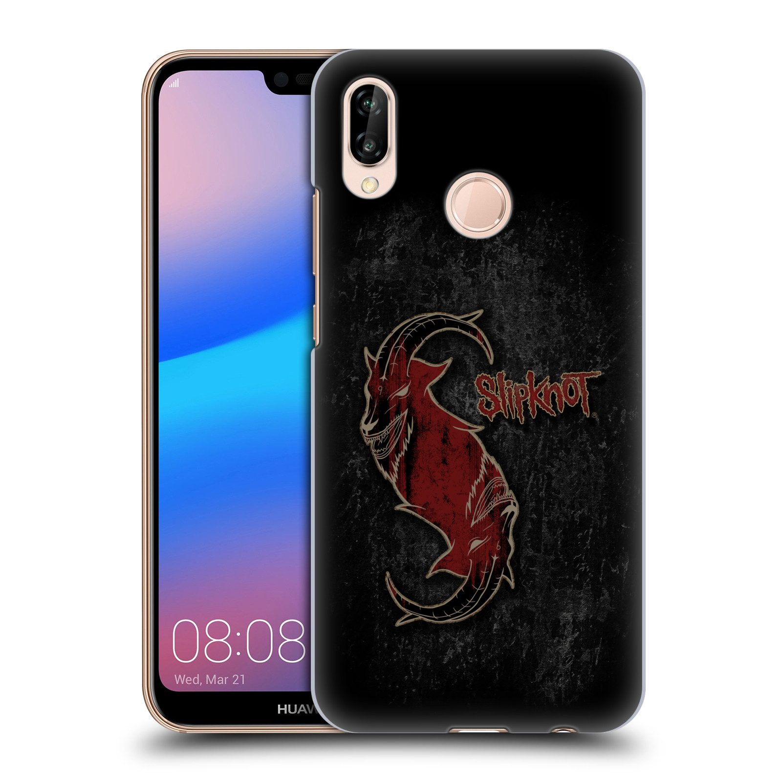 Plastové pouzdro na mobil Huawei P20 Lite - Head Case - Slipknot - Rudý kozel