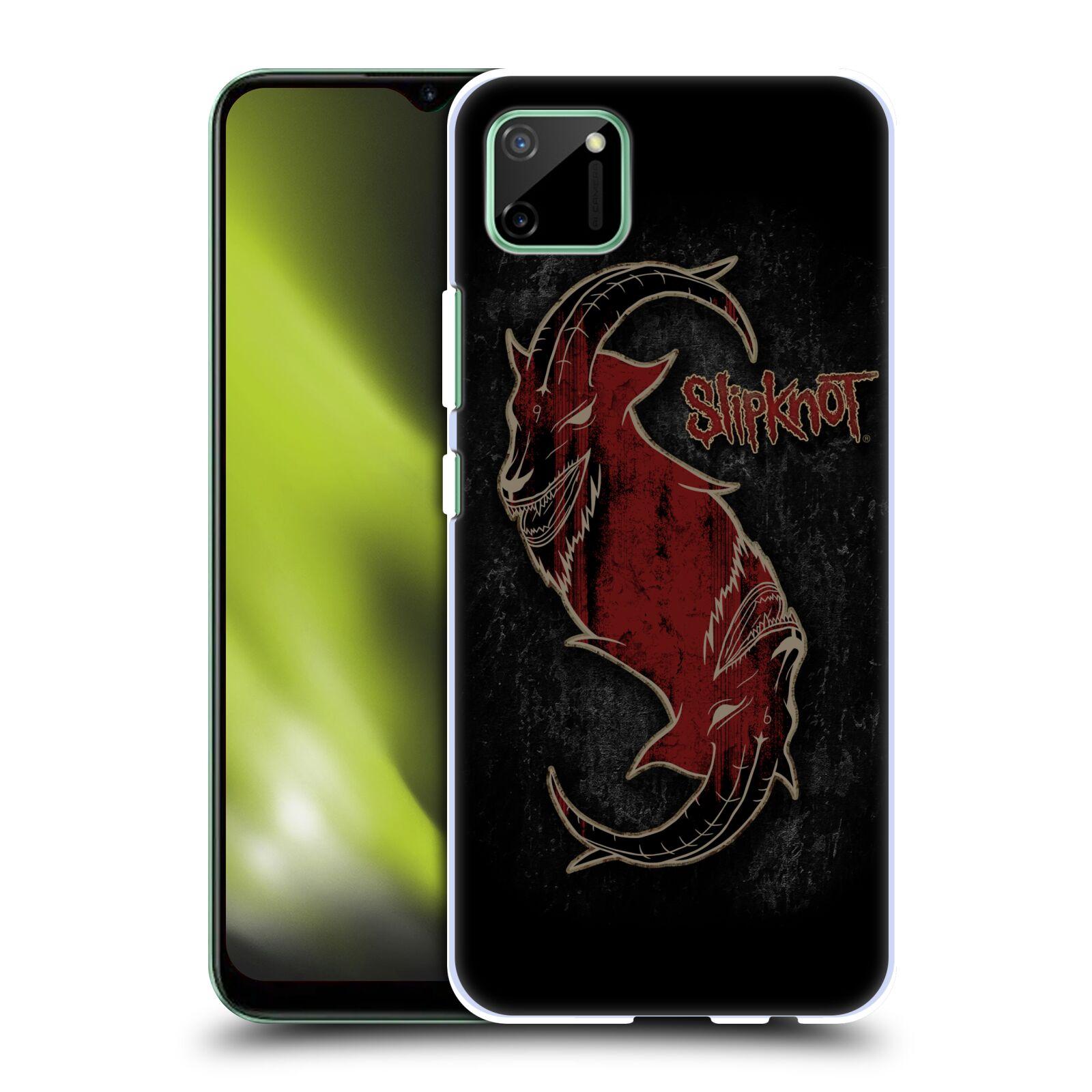 Plastové pouzdro na mobil Realme C11 - Head Case - Slipknot - Rudý kozel
