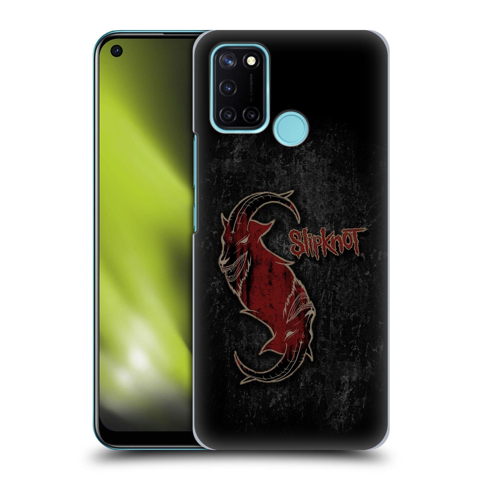 Plastové pouzdro na mobil Realme 7i - Head Case - Slipknot - Rudý kozel
