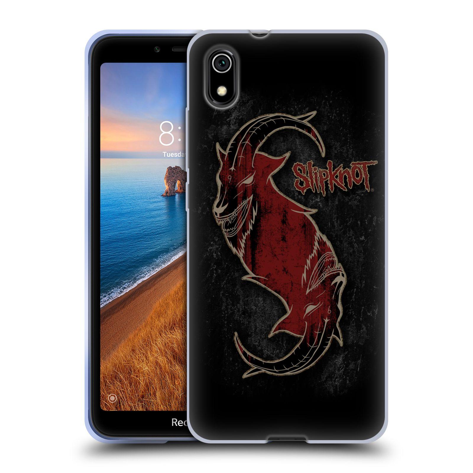 Silikonové pouzdro na mobil Redmi 7A - Head Case - Slipknot - Rudý kozel