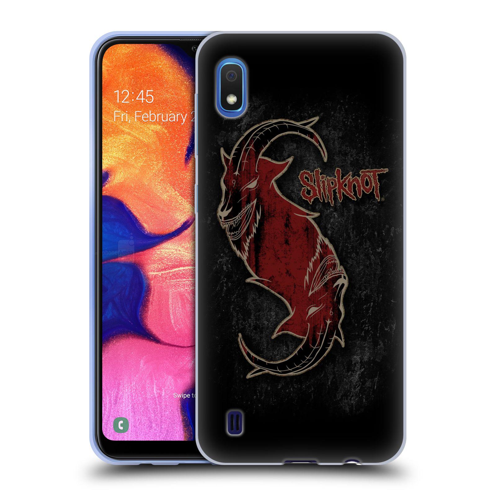 Silikonové pouzdro na mobil Samsung Galaxy A10 - Head Case - Slipknot - Rudý kozel