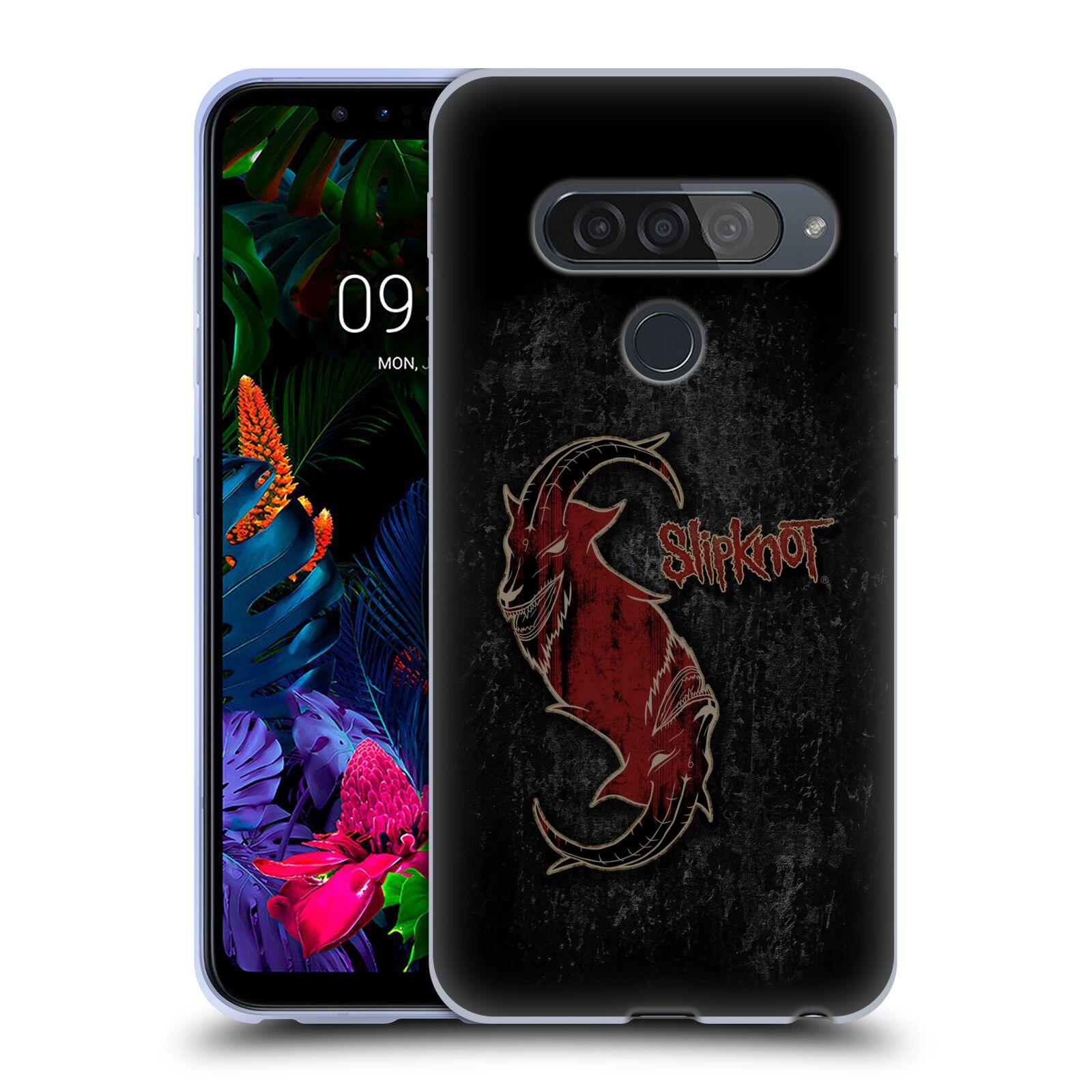 Silikonové pouzdro na mobil LG G8s ThinQ - Head Case - Slipknot - Rudý kozel