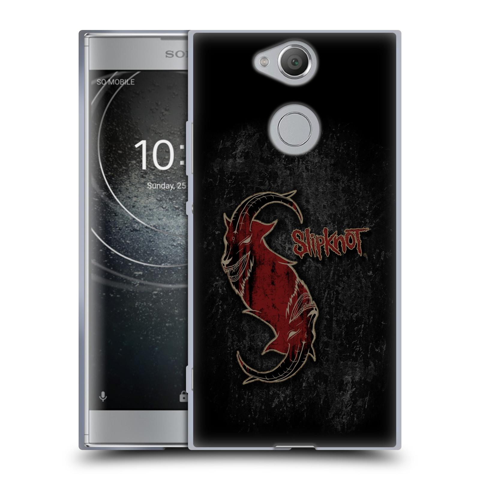 Silikonové pouzdro na mobil Sony Xperia XA2 - Head Case - Slipknot - Rudý kozel