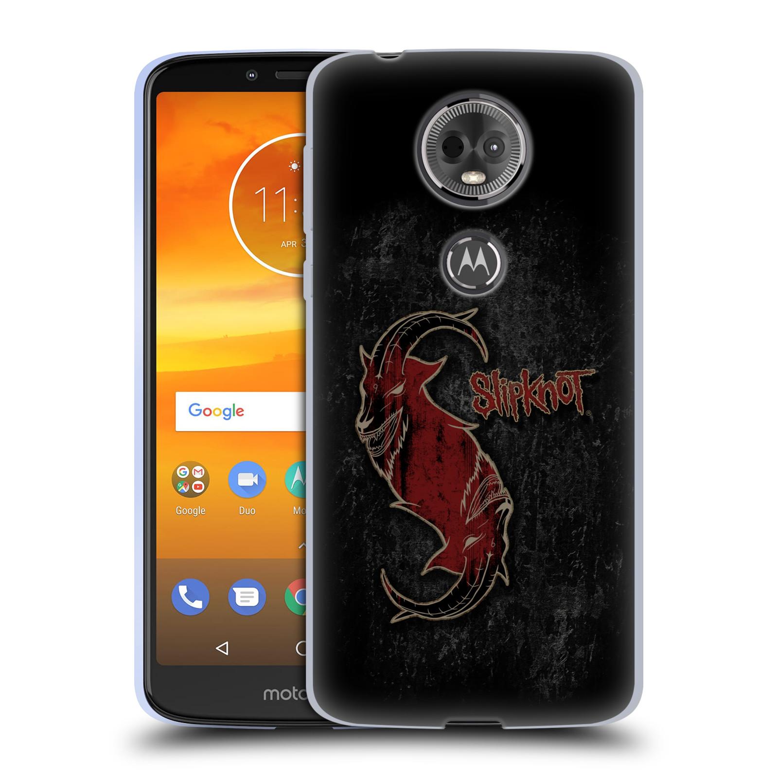 Silikonové pouzdro na mobil Motorola Moto E5 Plus - Head Case - Slipknot - Rudý kozel