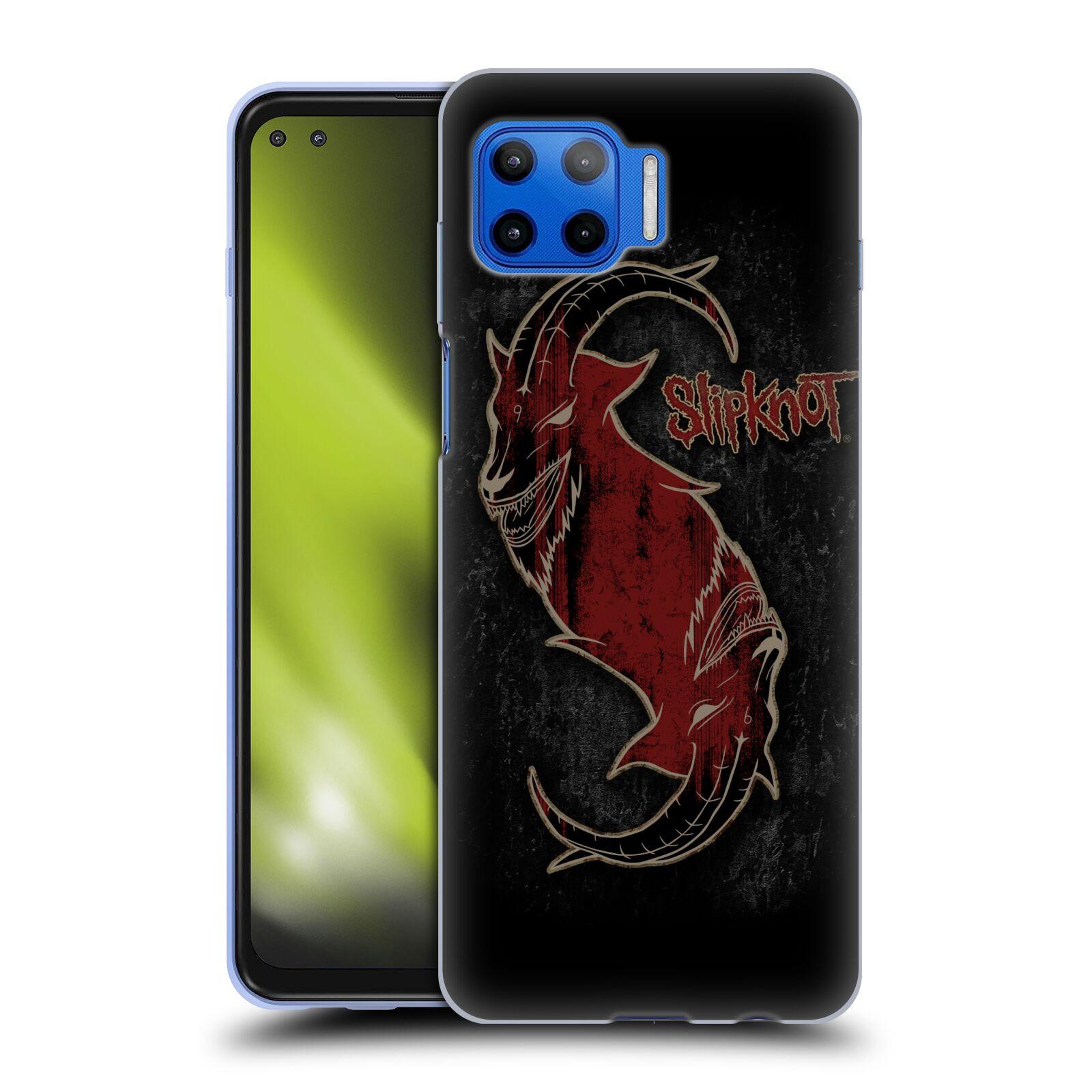 Silikonové pouzdro na mobil Motorola Moto G 5G Plus - Head Case - Slipknot - Rudý kozel