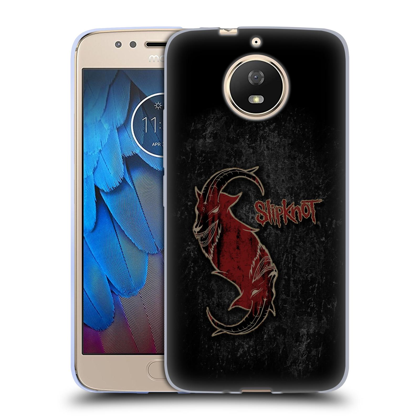 Silikonové pouzdro na mobil Lenovo Moto G5s - Head Case - Slipknot - Rudý kozel