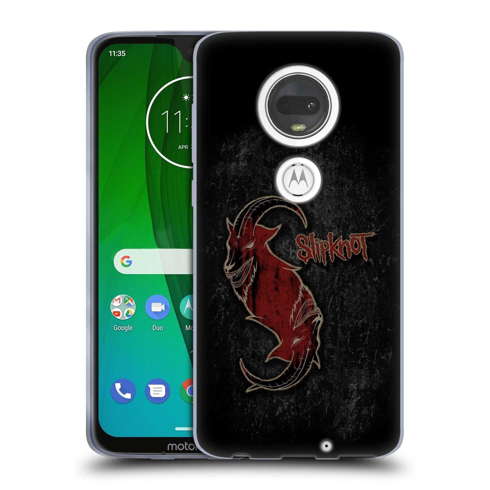 Silikonové pouzdro na mobil Motorola Moto G7 - Head Case - Slipknot - Rudý kozel