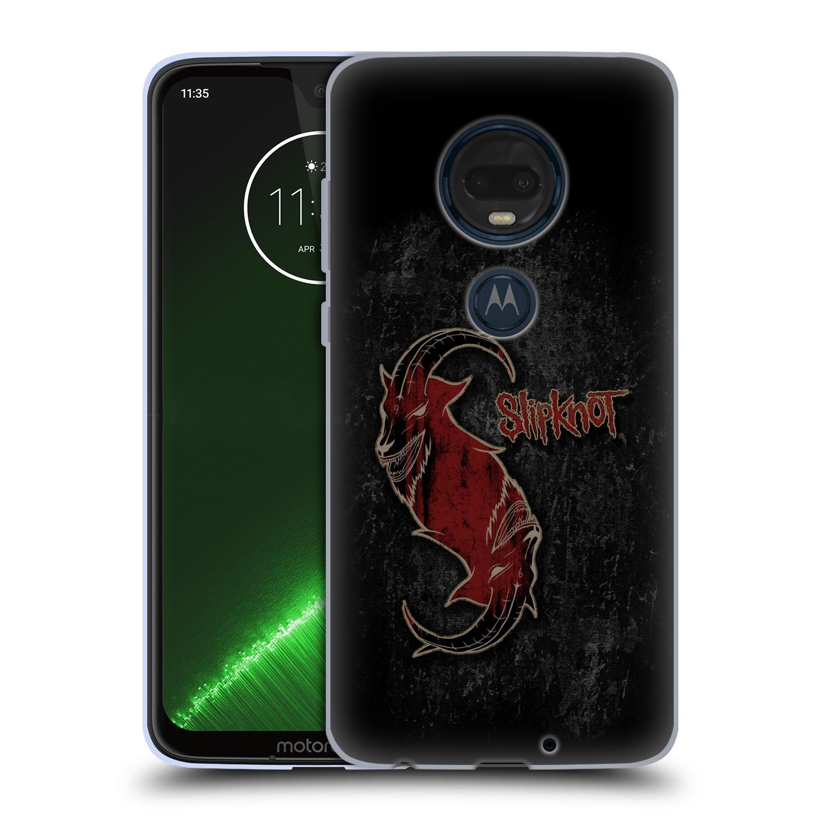 Silikonové pouzdro na mobil Motorola Moto G7 Plus - Head Case - Slipknot - Rudý kozel
