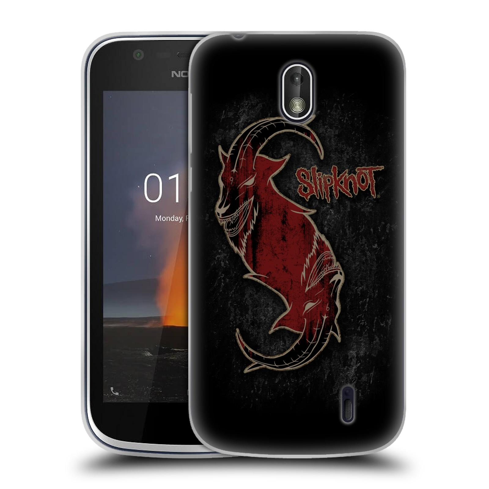 Silikonové pouzdro na mobil Nokia 1 - Head Case - Slipknot - Rudý kozel