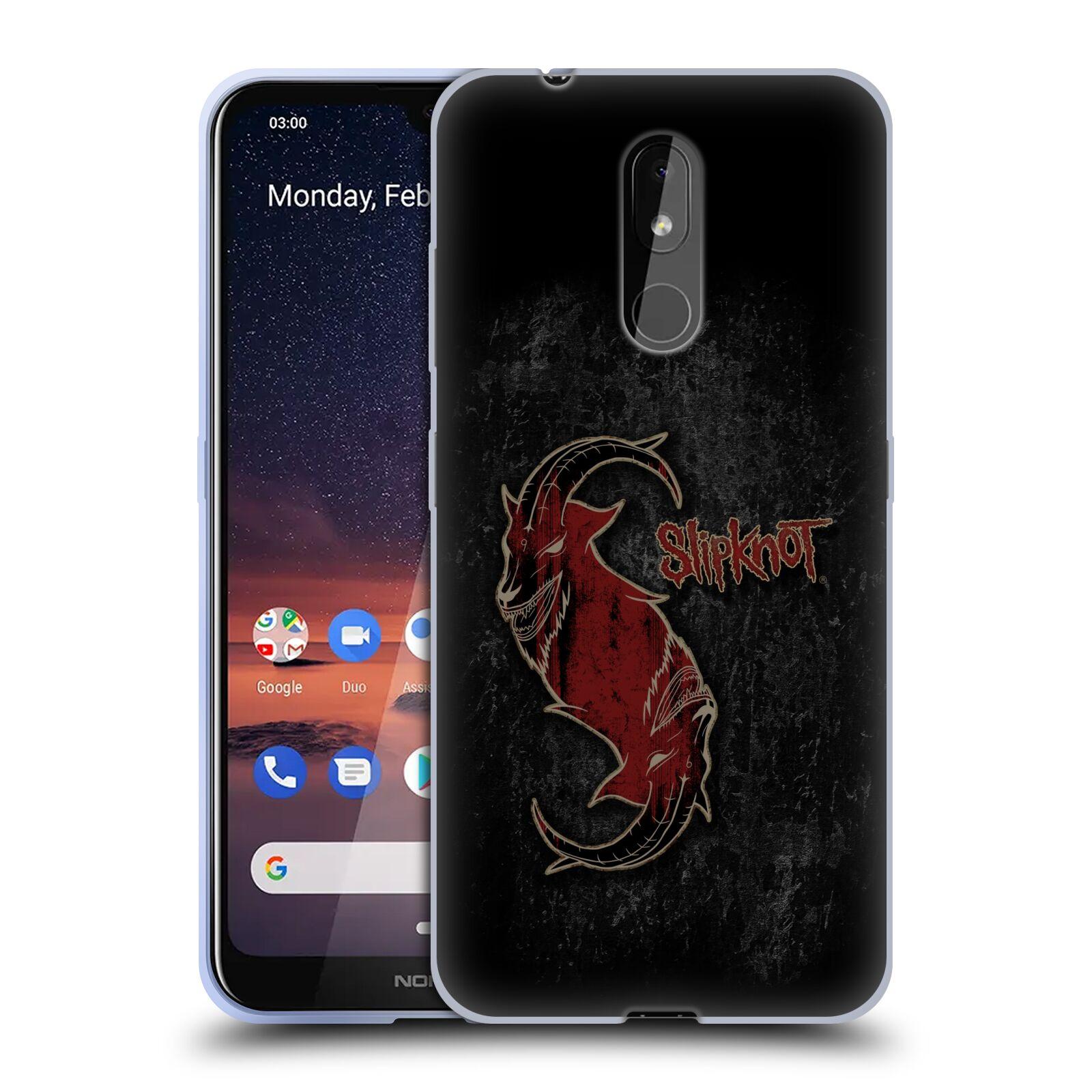 Silikonové pouzdro na mobil Nokia 3.2 - Head Case - Slipknot - Rudý kozel