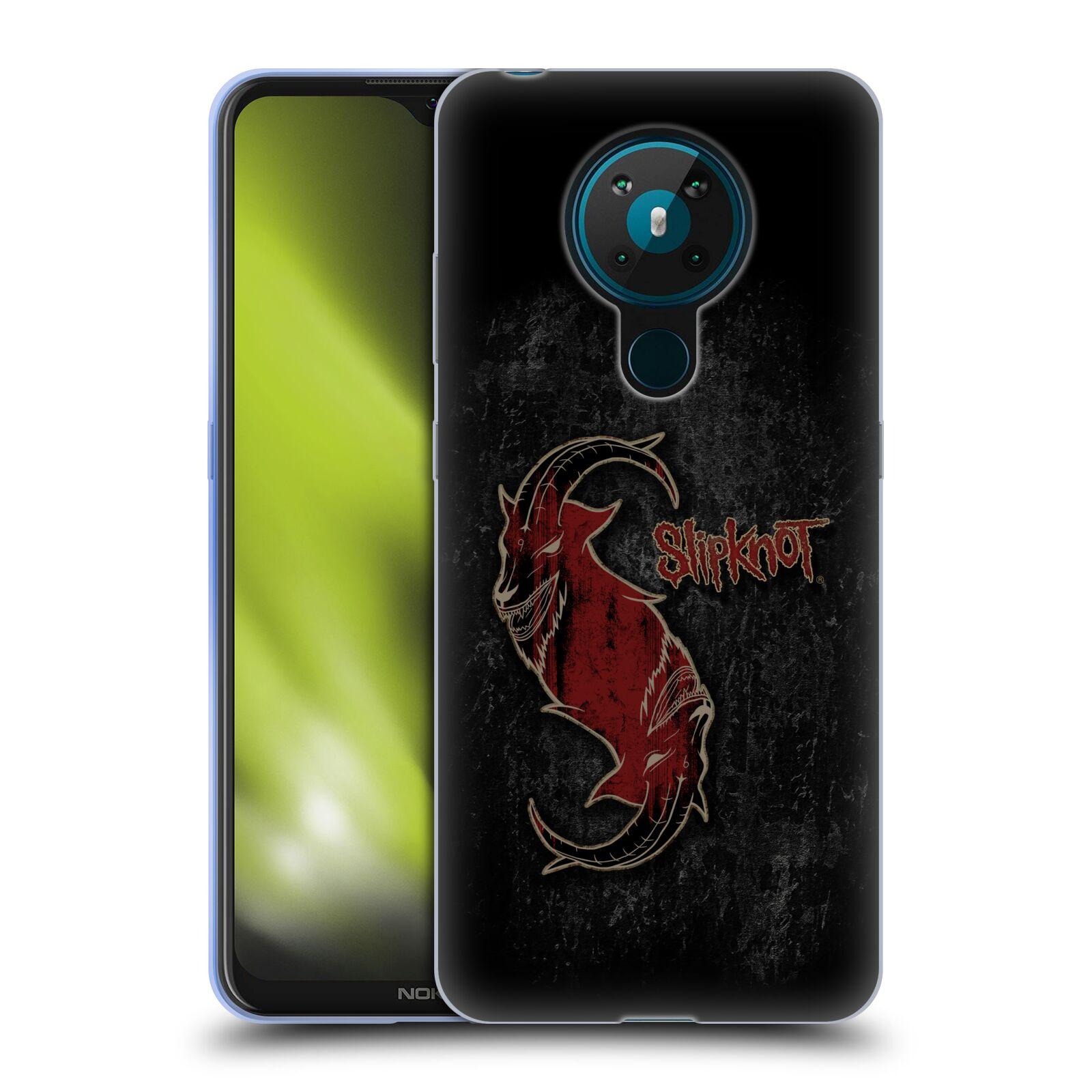 Silikonové pouzdro na mobil Nokia 5.3 - Head Case - Slipknot - Rudý kozel
