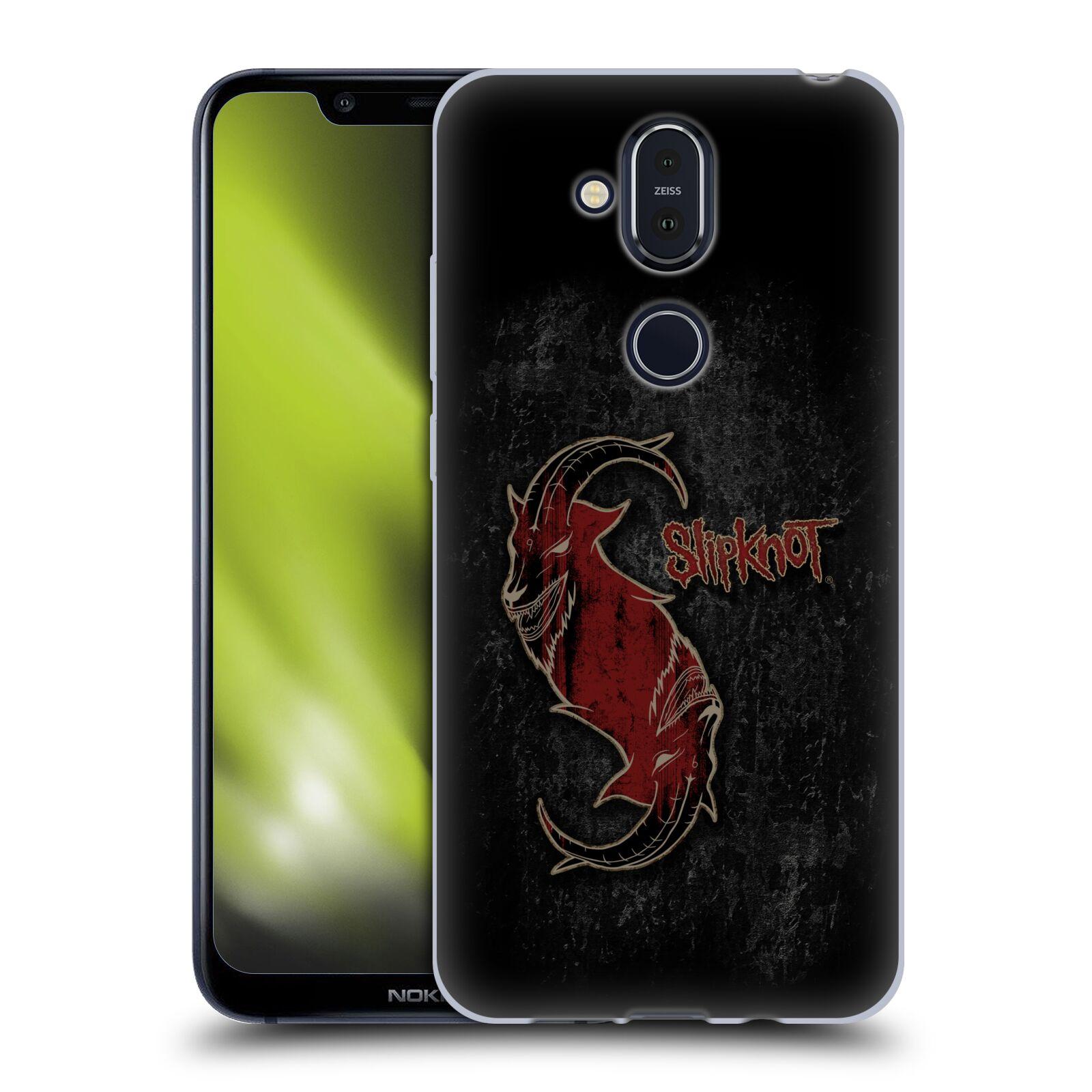 Silikonové pouzdro na mobil Nokia 8.1 - Head Case - Slipknot - Rudý kozel