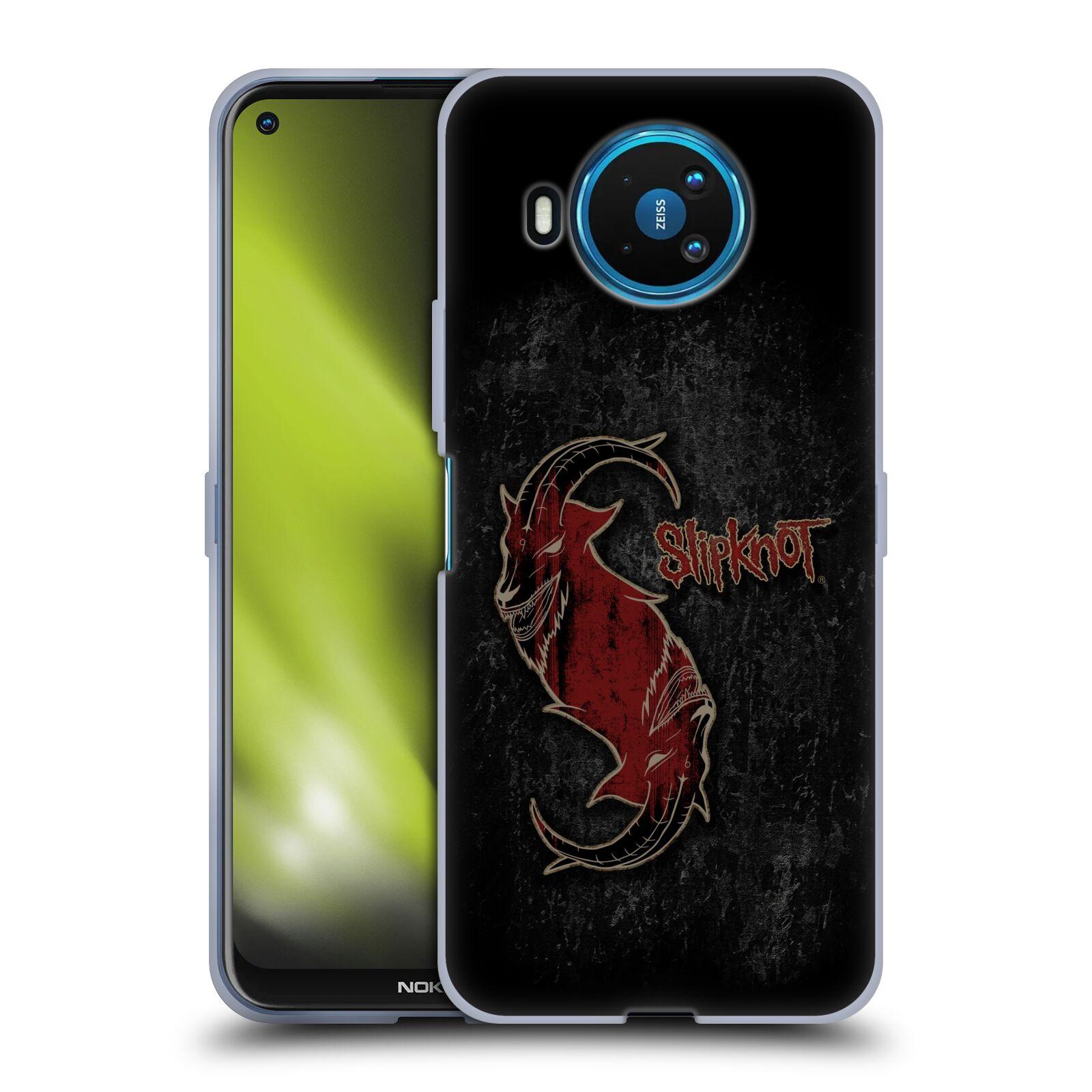 Silikonové pouzdro na mobil Nokia 8.3 5G - Head Case - Slipknot - Rudý kozel