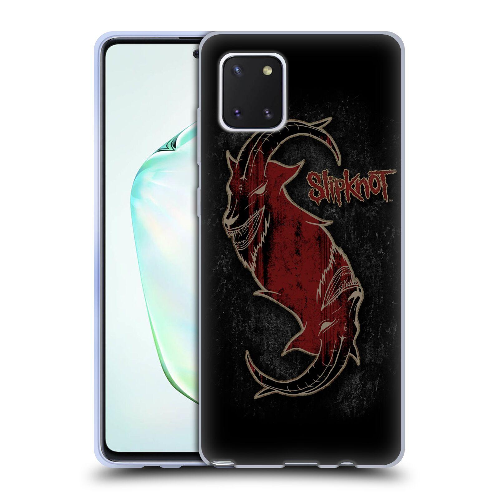 Silikonové pouzdro na mobil Samsung Galaxy Note 10 Lite - Head Case - Slipknot - Rudý kozel