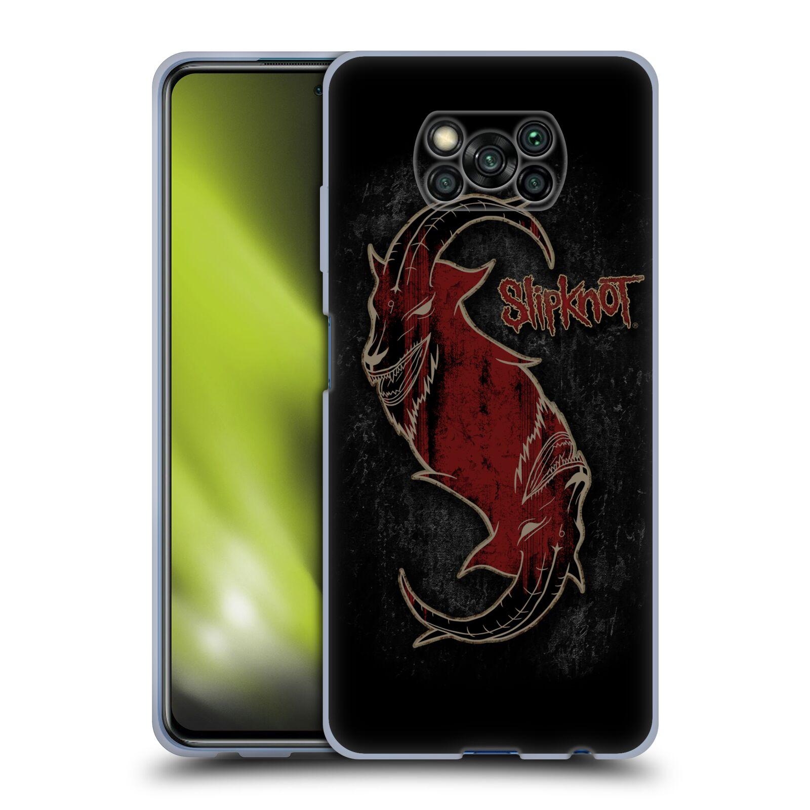 Silikonové pouzdro na mobil Xiaomi Poco X3 NFC - Head Case - Slipknot - Rudý kozel