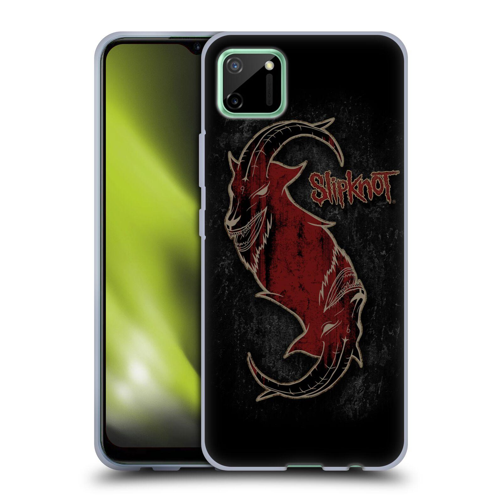Silikonové pouzdro na mobil Realme C11 - Head Case - Slipknot - Rudý kozel