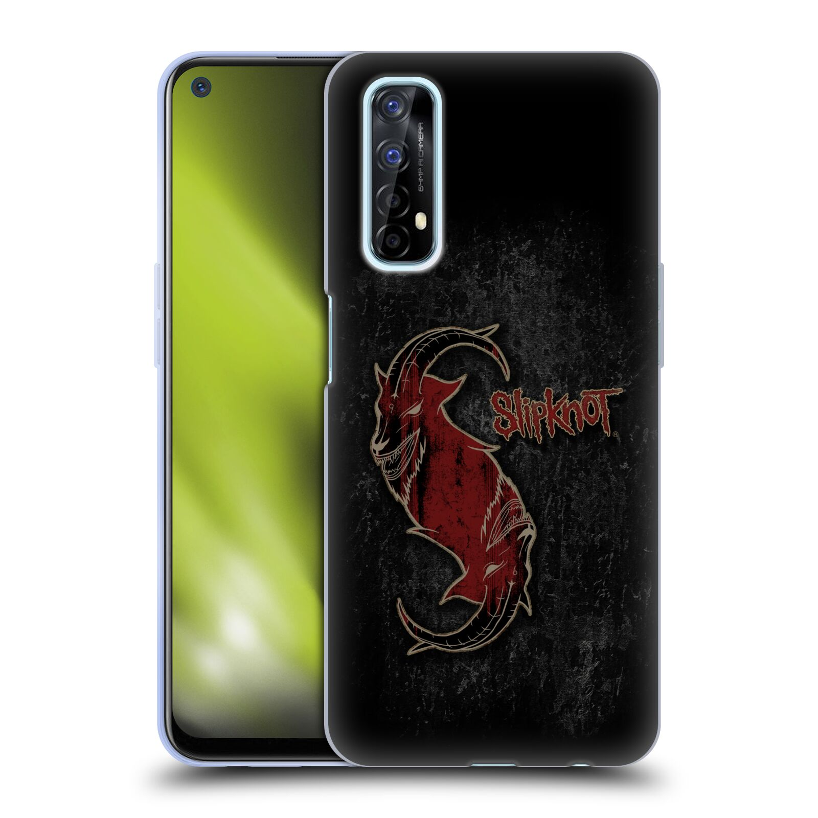 Silikonové pouzdro na mobil Realme 7 - Head Case - Slipknot - Rudý kozel