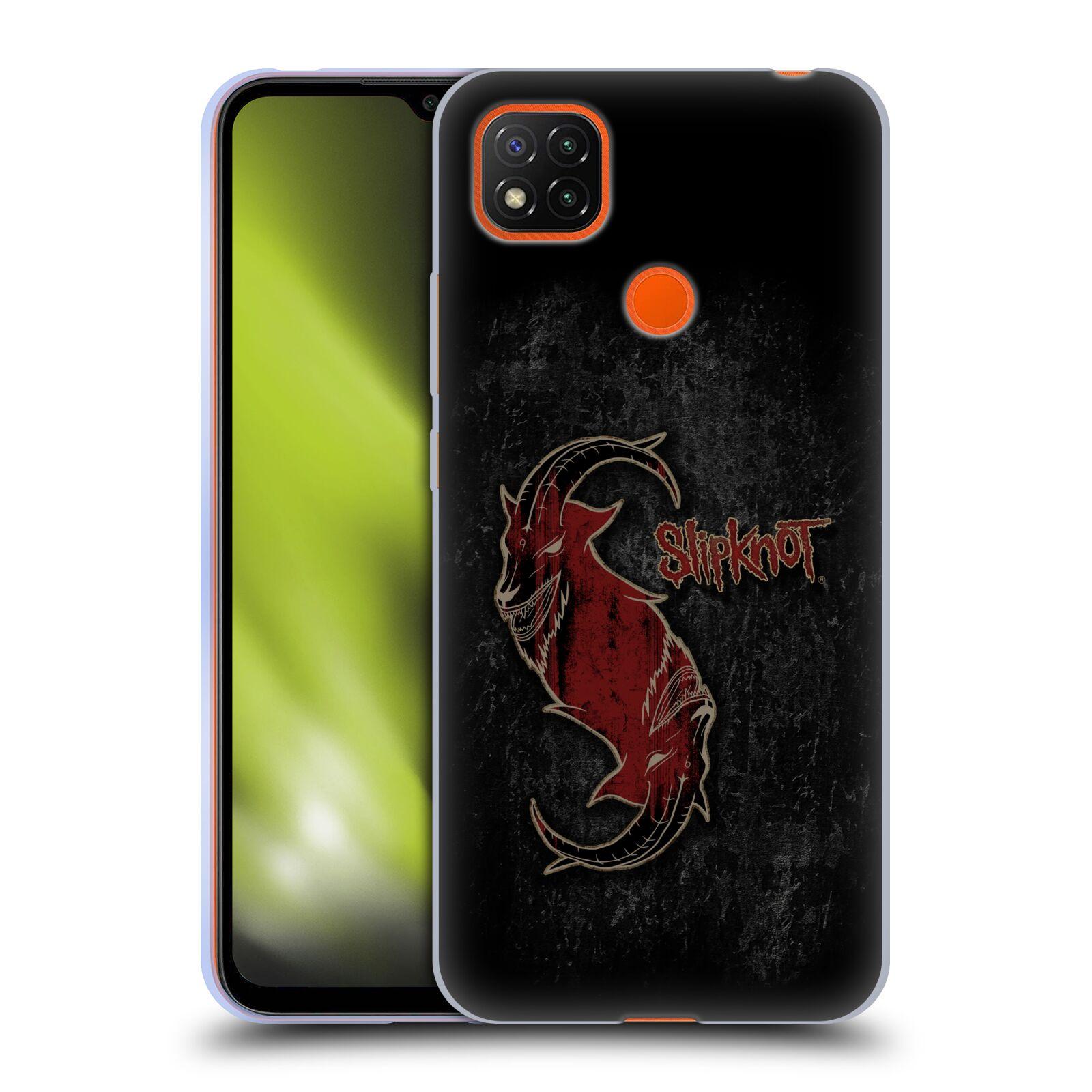 Silikonové pouzdro na mobil Xiaomi Redmi 9C - Head Case - Slipknot - Rudý kozel