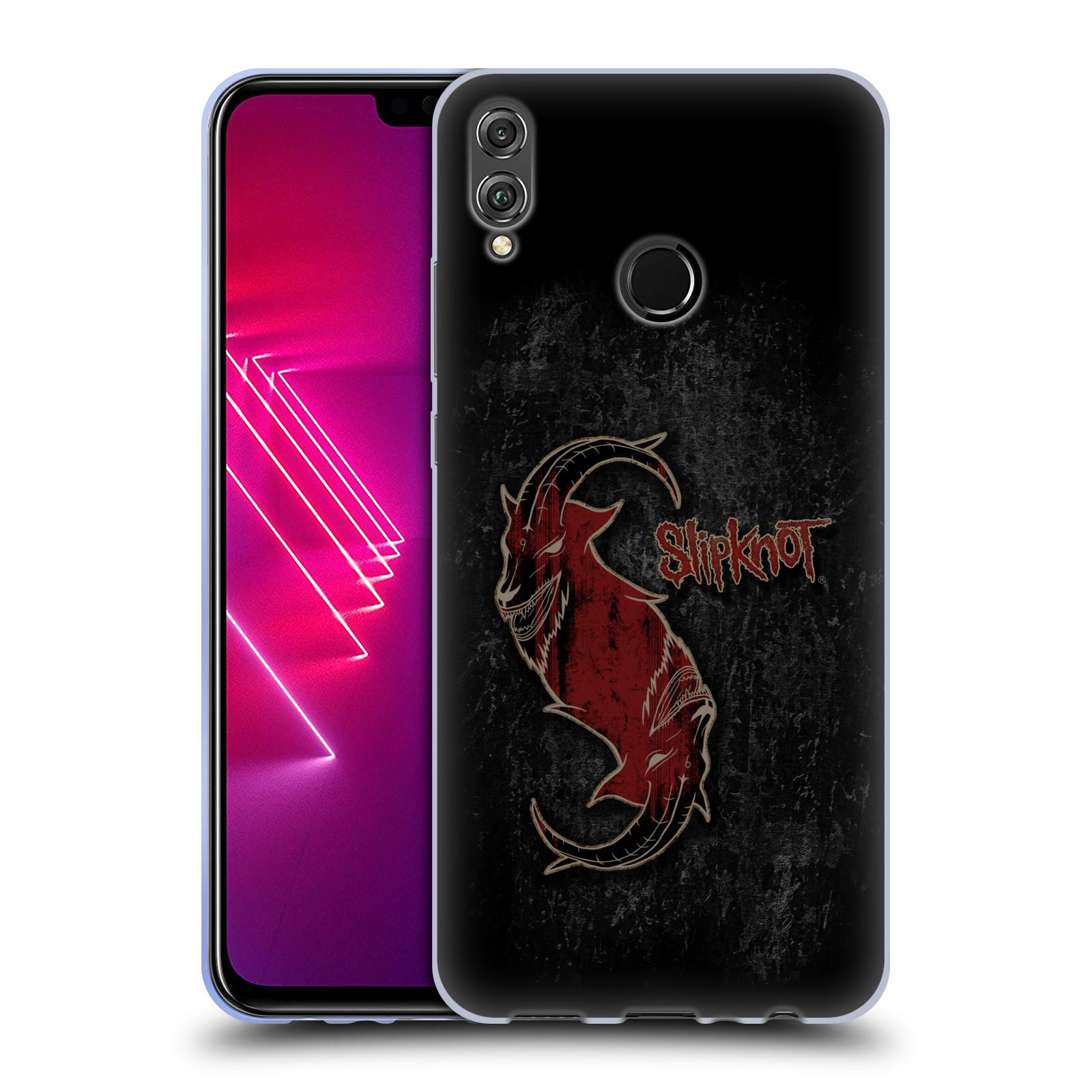 Silikonové pouzdro na mobil Honor View 10 Lite - Head Case - Slipknot - Rudý kozel