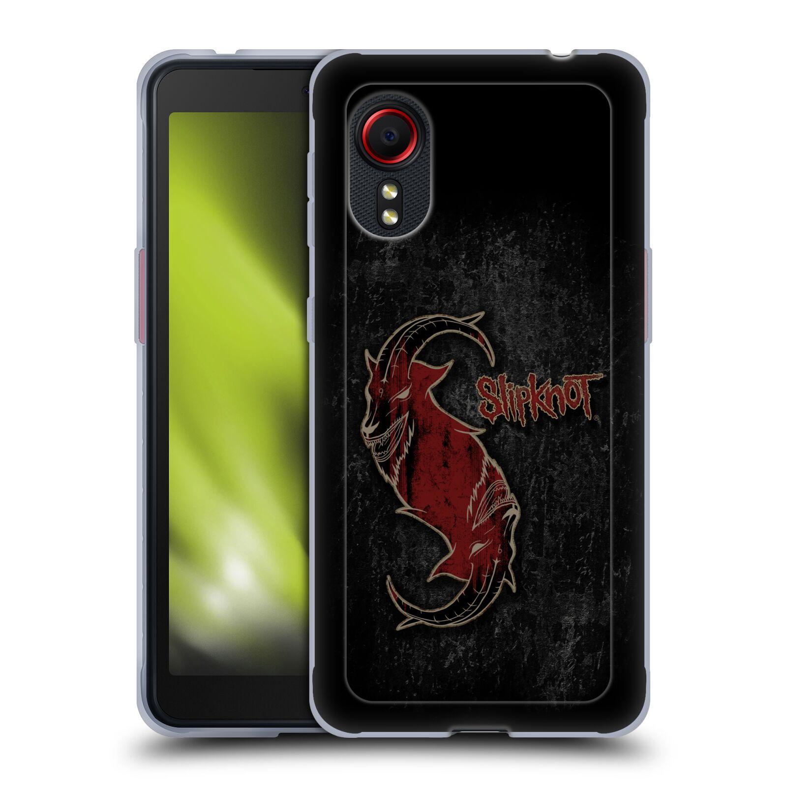 Silikonové pouzdro na mobil Samsung Galaxy Xcover 5 - Head Case - Slipknot - Rudý kozel