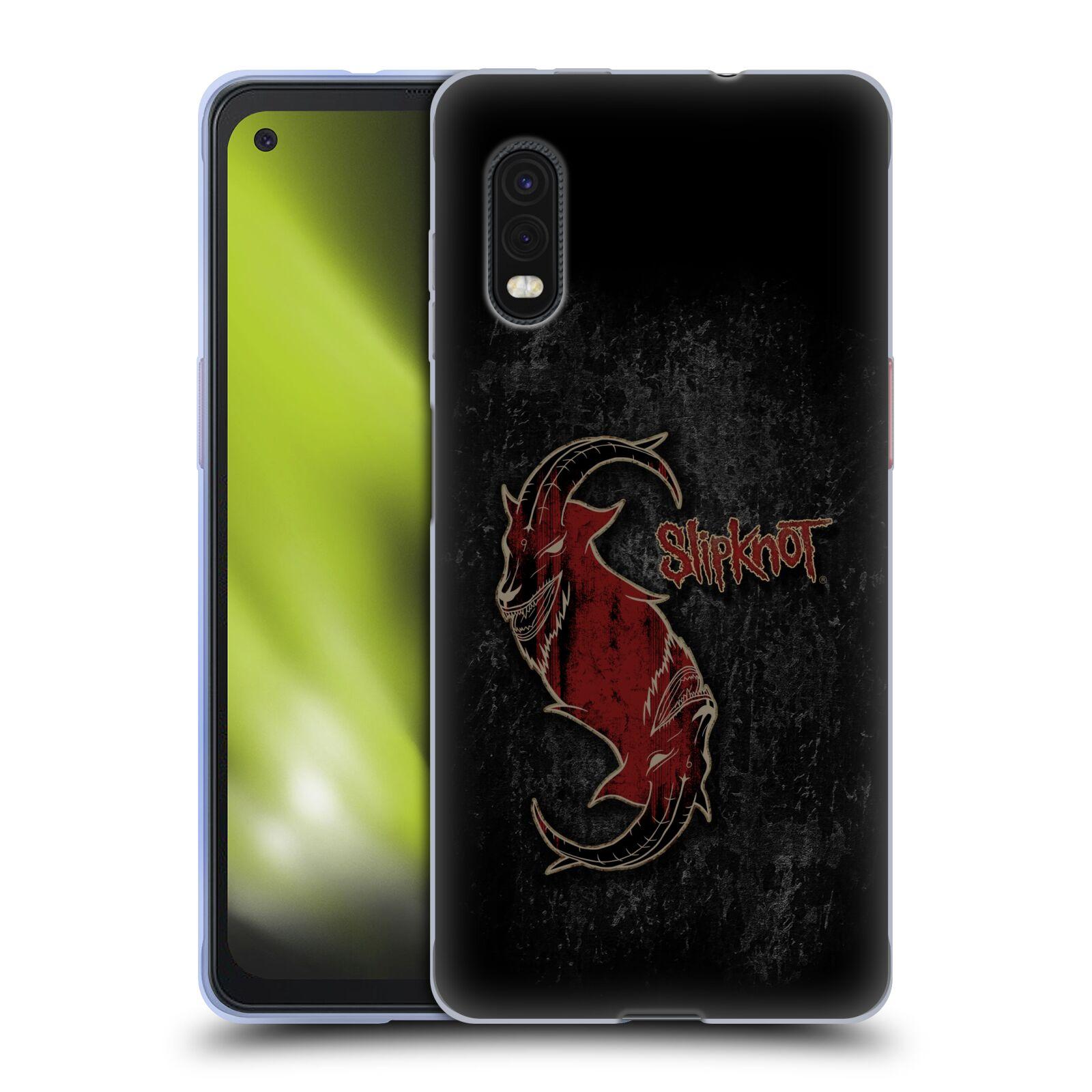 Silikonové pouzdro na mobil Samsung Galaxy Xcover Pro - Head Case - Slipknot - Rudý kozel