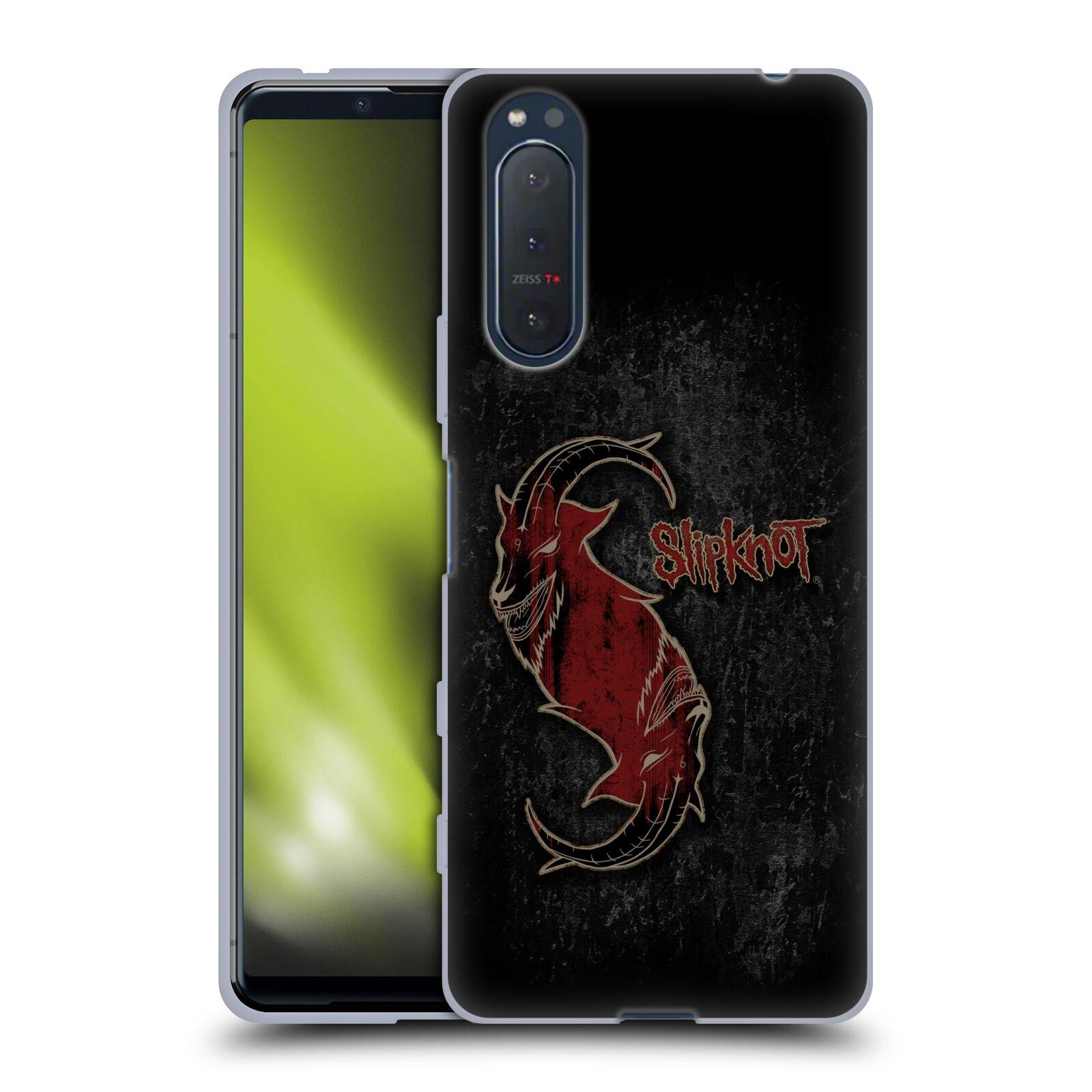 Silikonové pouzdro na mobil Sony Xperia 5 II - Head Case - Slipknot - Rudý kozel