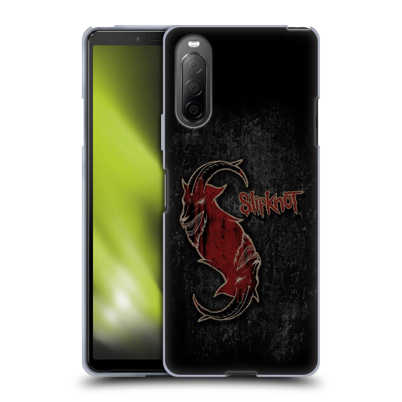 Silikonové pouzdro na mobil Sony Xperia 10 II - Head Case - Slipknot - Rudý kozel