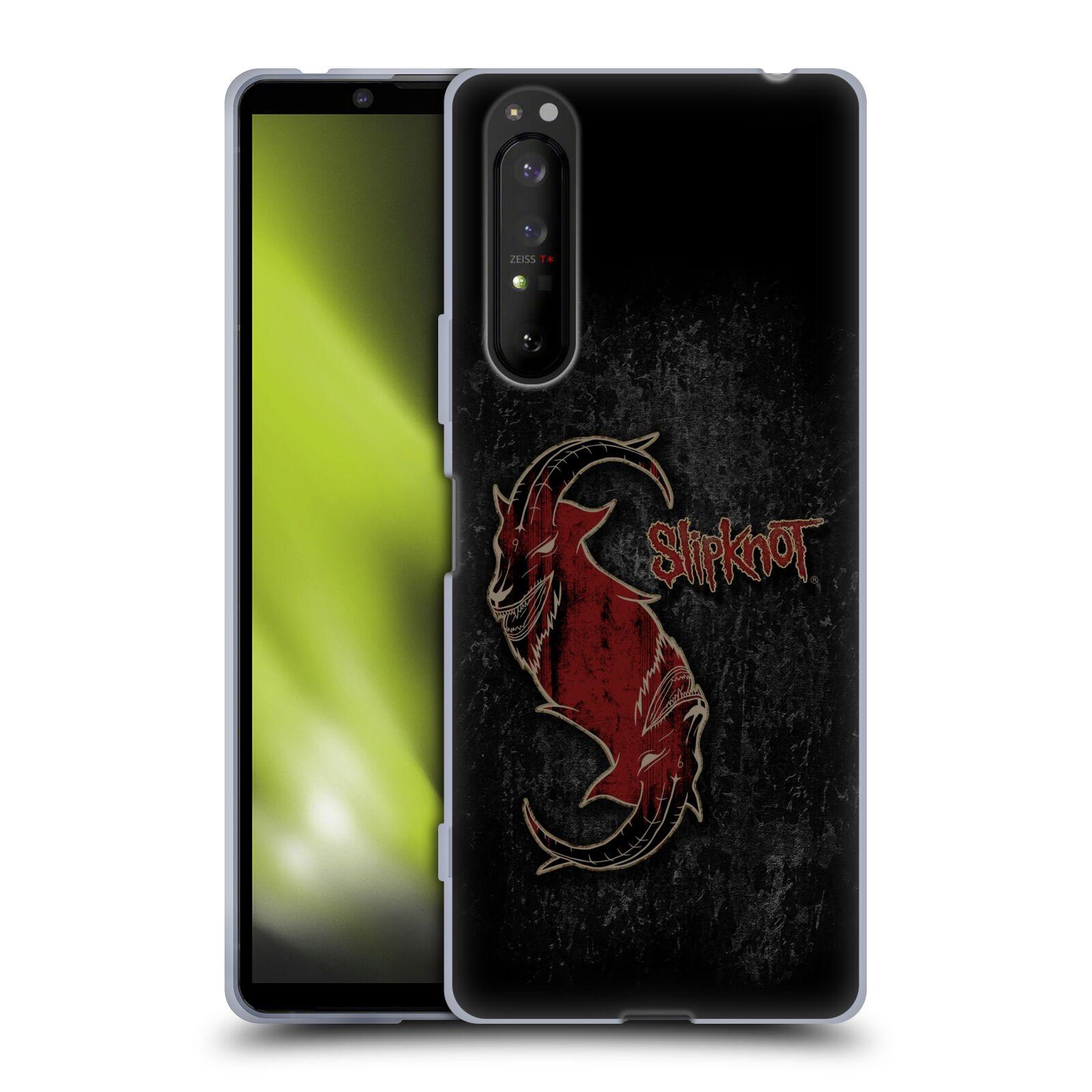 Silikonové pouzdro na mobil Sony Xperia 1 II - Head Case - Slipknot - Rudý kozel