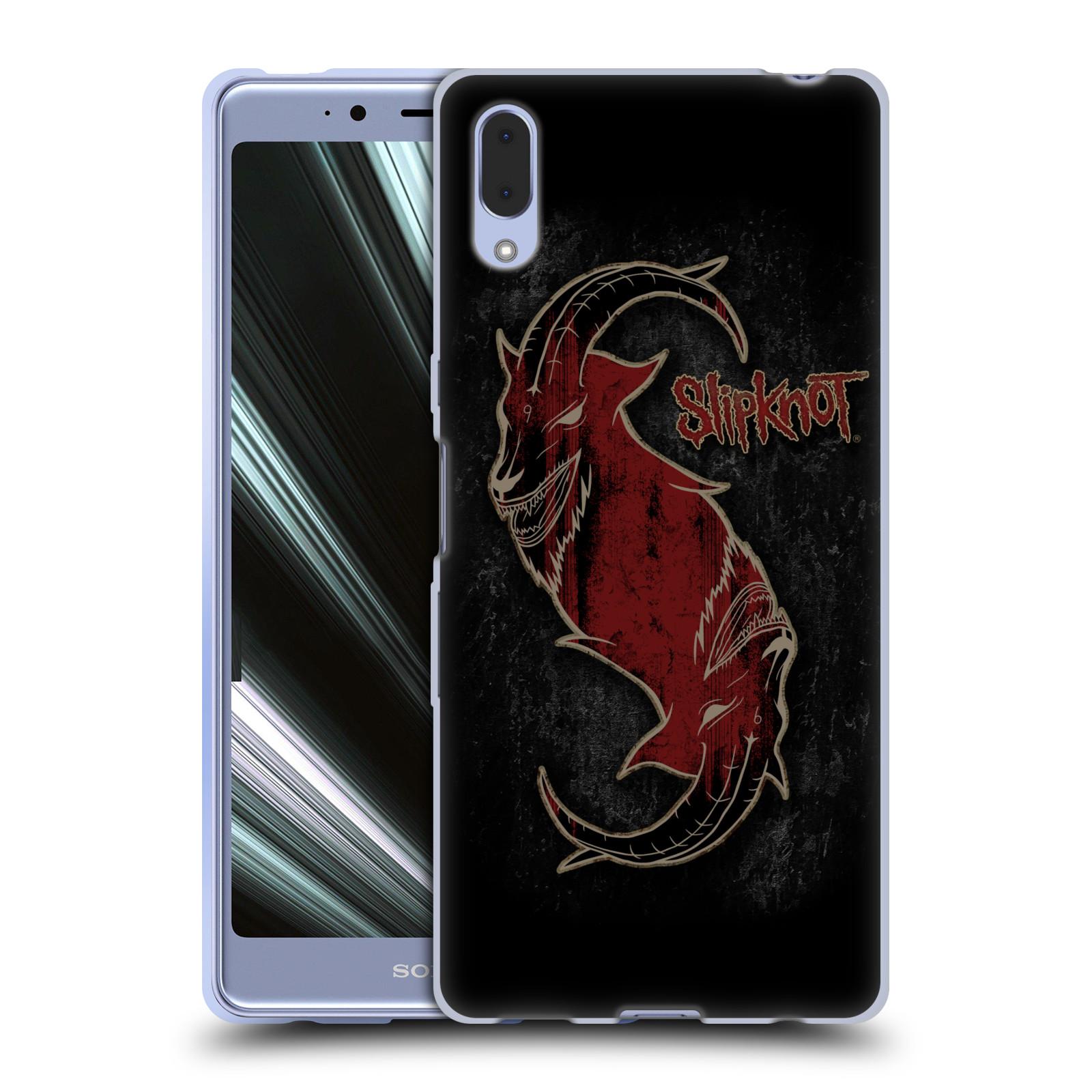 Silikonové pouzdro na mobil Sony Xperia L3 - Head Case - Slipknot - Rudý kozel