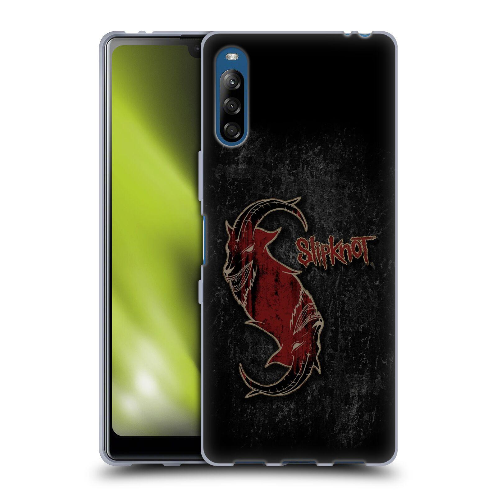Silikonové pouzdro na mobil Sony Xperia L4 - Head Case - Slipknot - Rudý kozel