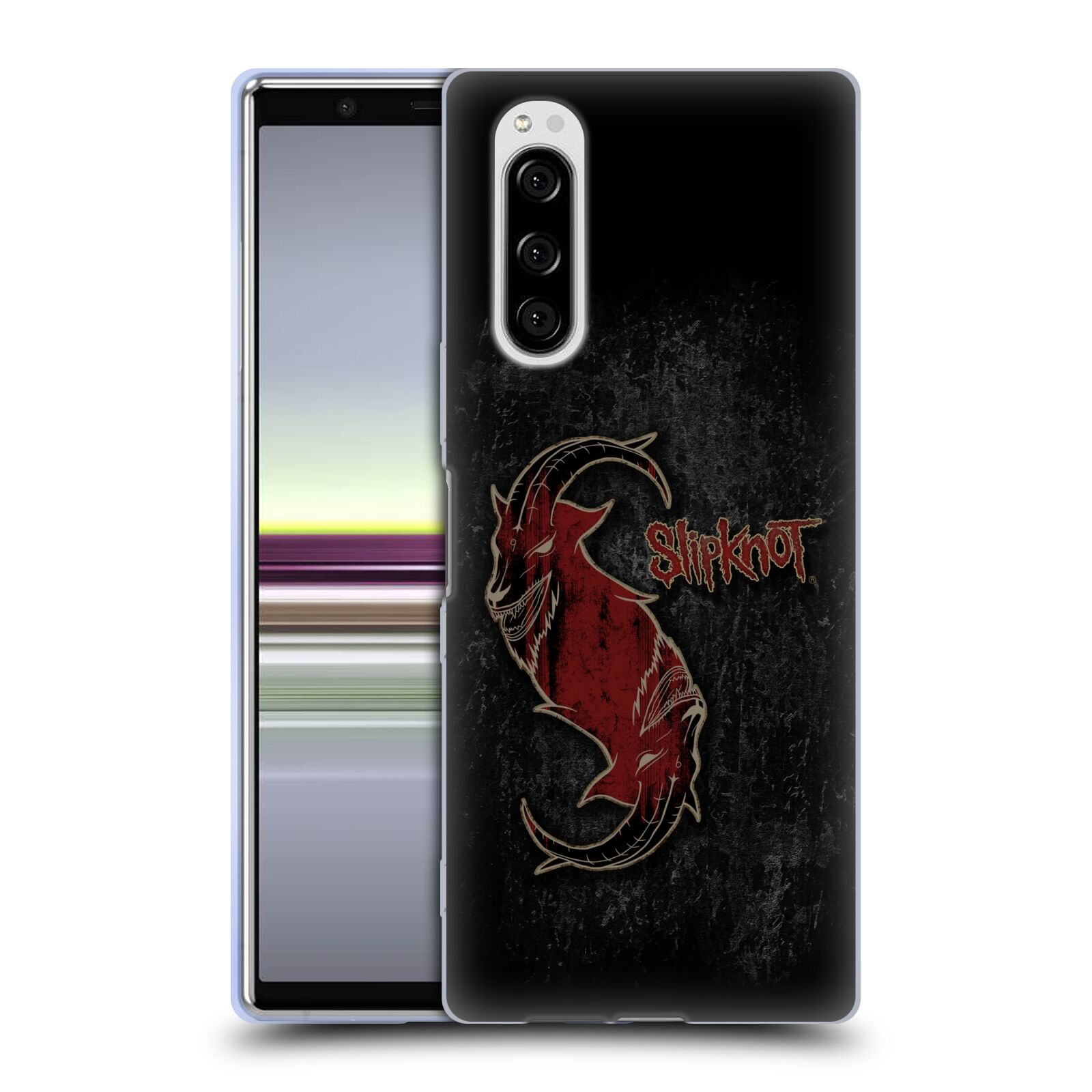 Silikonové pouzdro na mobil Sony Xperia 5 - Head Case - Slipknot - Rudý kozel