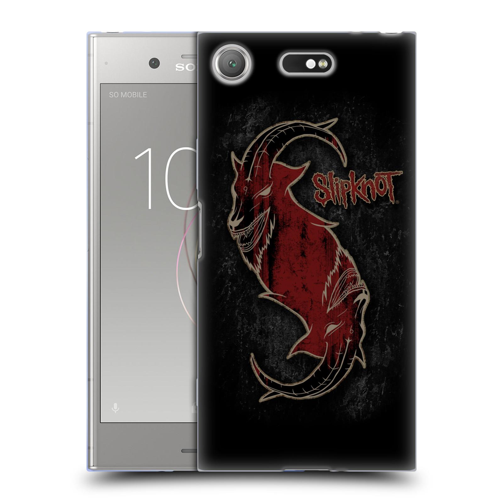 Silikonové pouzdro na mobil Sony Xperia XZ1 Compact - Head Case - Slipknot - Rudý kozel