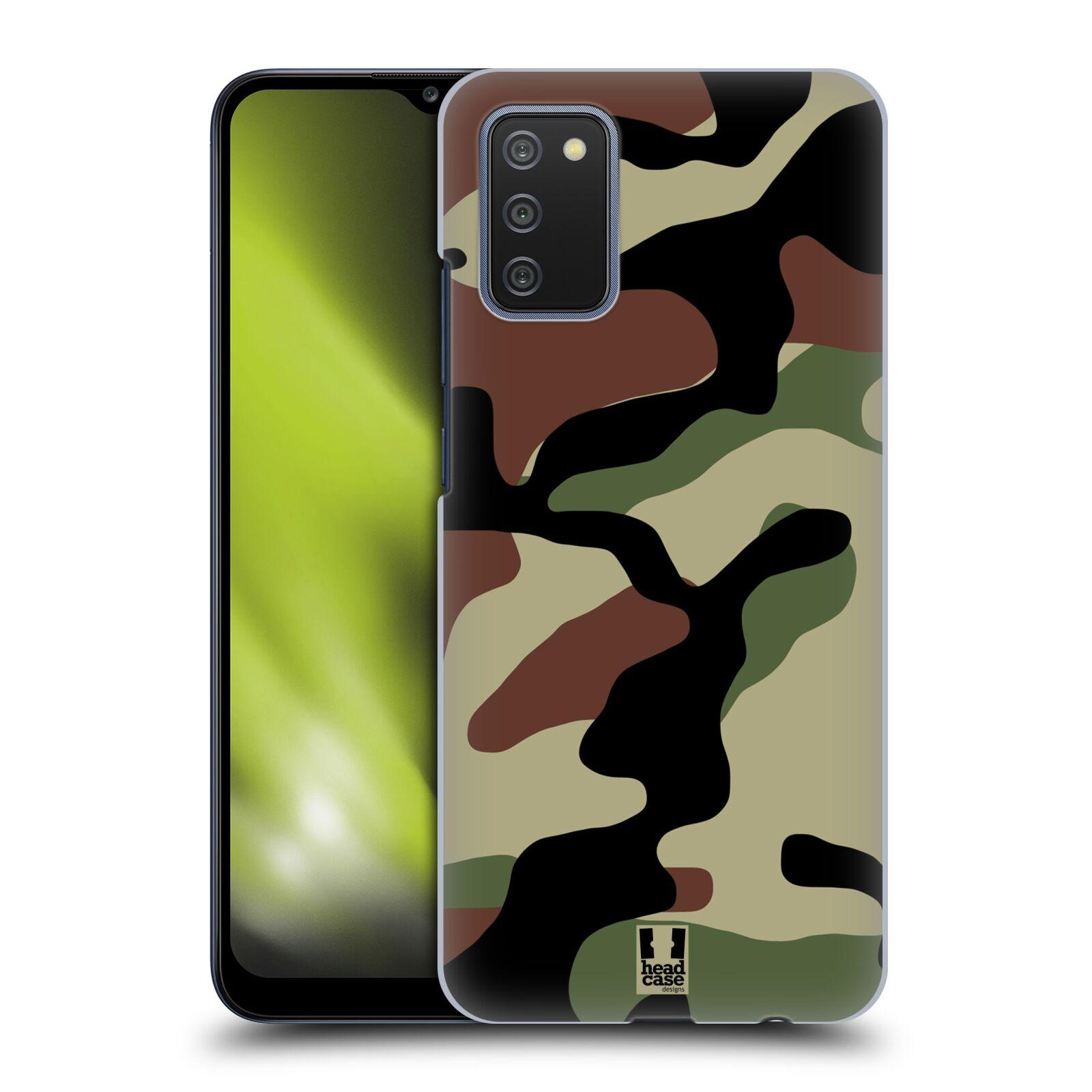 Plastové pouzdro na mobil Samsung Galaxy A02s - Head Case - Maskáče