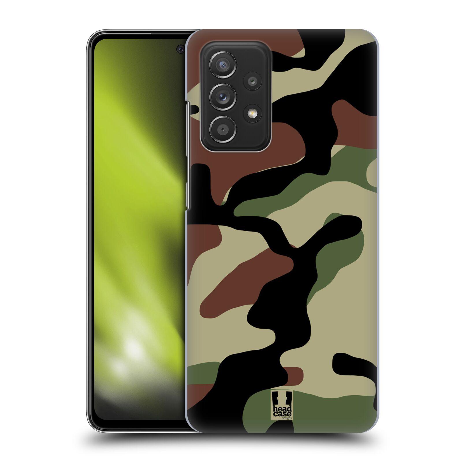 Plastové pouzdro na mobil Samsung Galaxy A52 / A52 5G / A52s 5G - Head Case - Maskáče