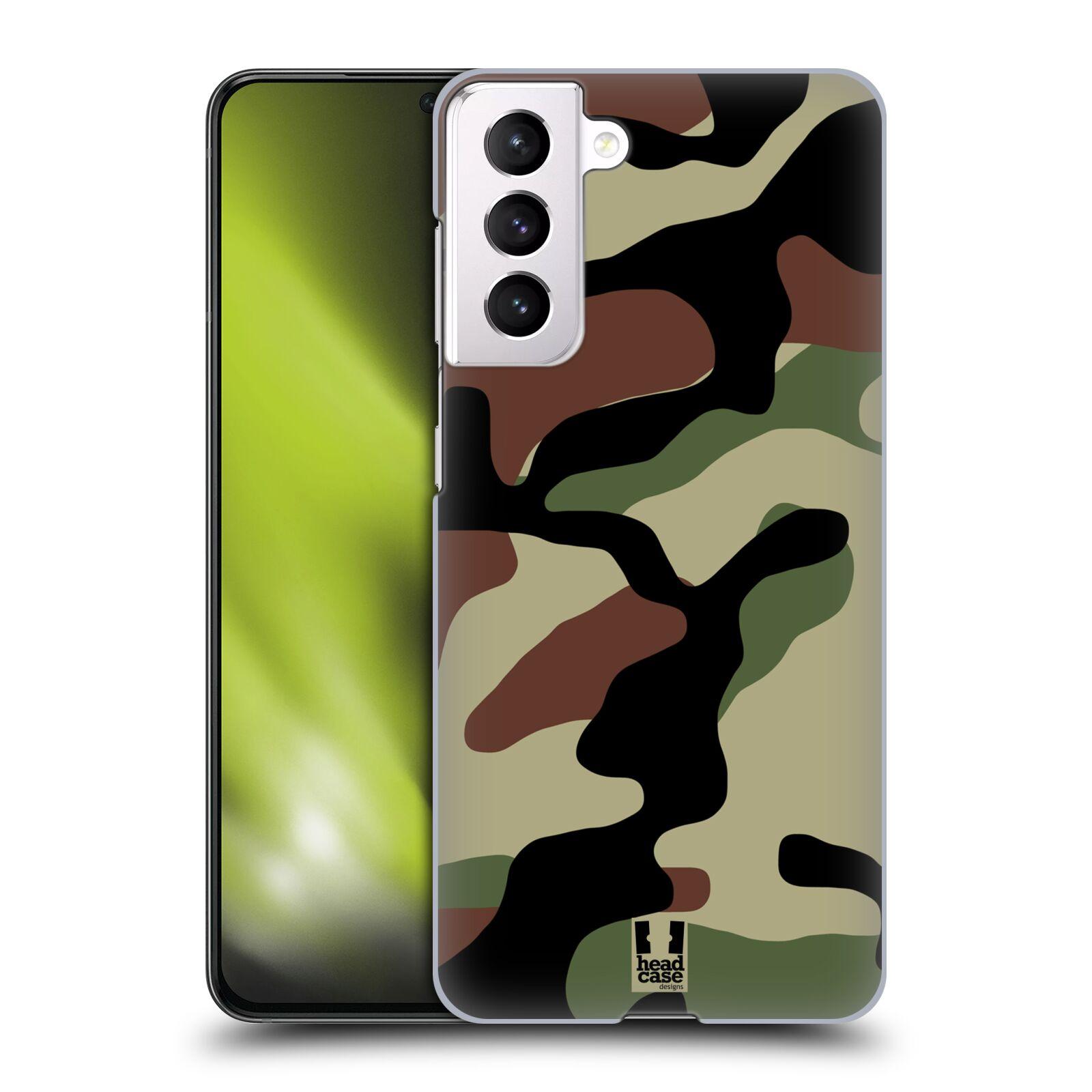 Plastové pouzdro na mobil Samsung Galaxy S21 5G - Head Case - Maskáče