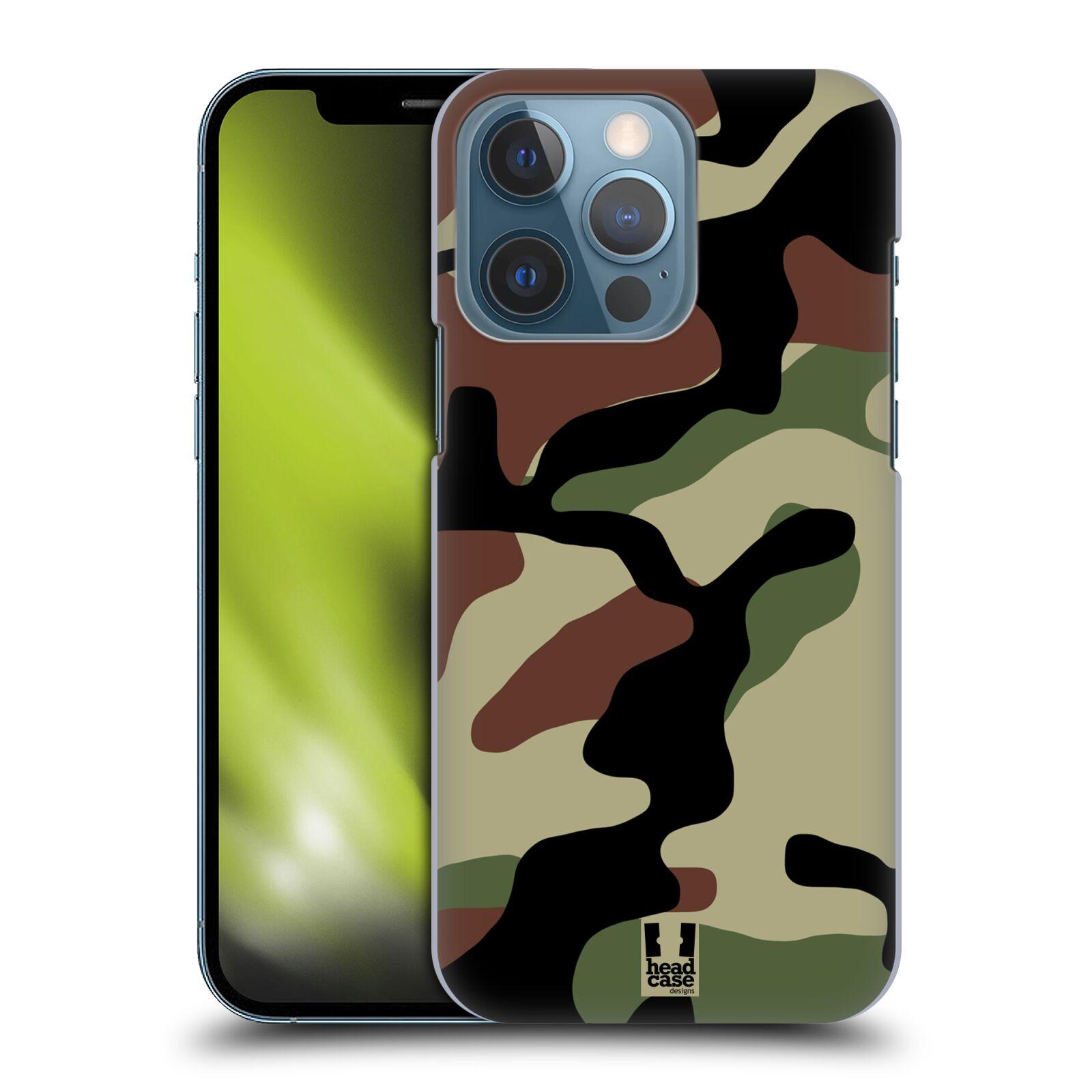 Plastové pouzdro na mobil Apple iPhone 13 Pro - Head Case - Maskáče