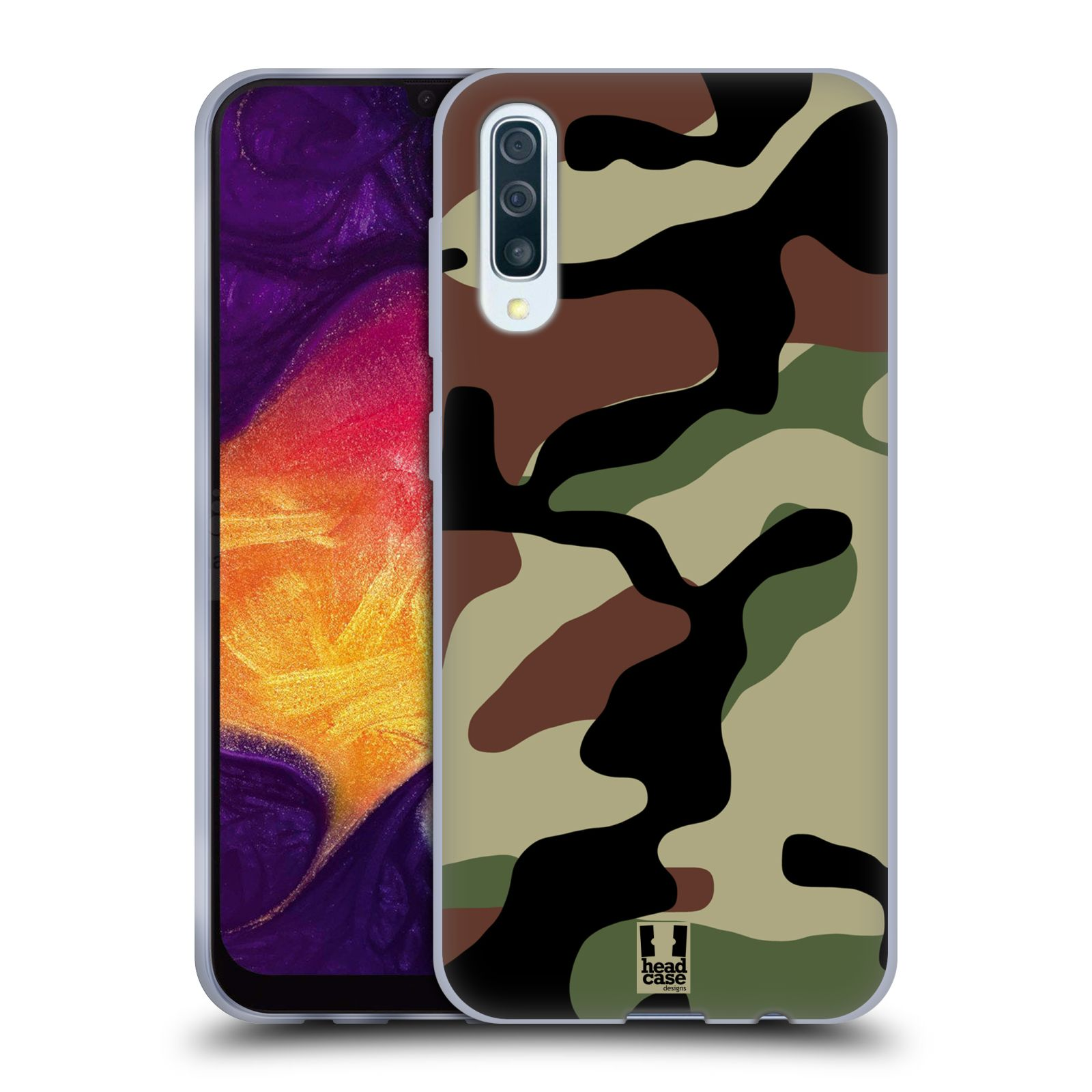Silikonové pouzdro na mobil Samsung Galaxy A50 / A30s - Head Case - Maskáče