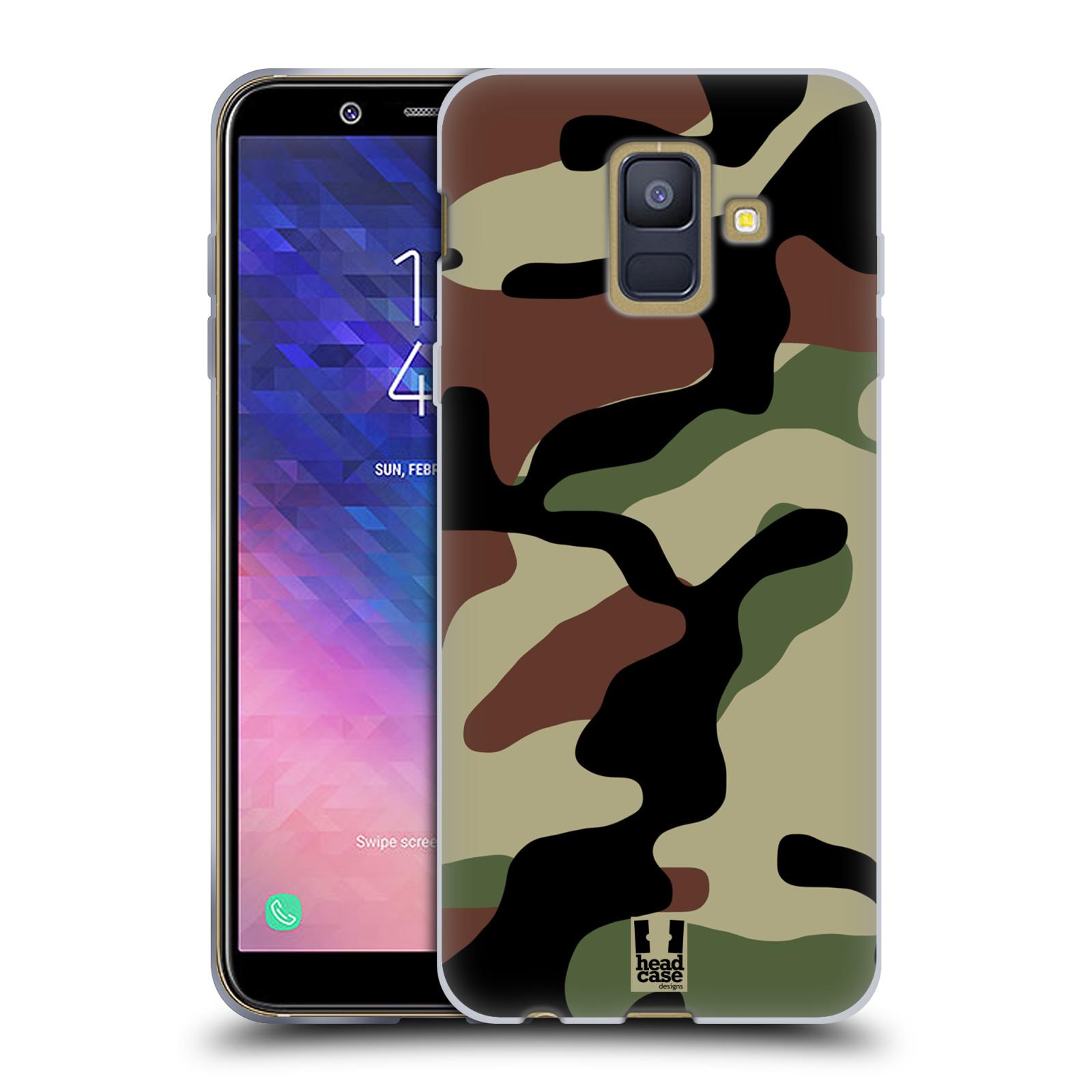 Silikonové pouzdro na mobil Samsung Galaxy A6 (2018) - Head Case - Maskáče