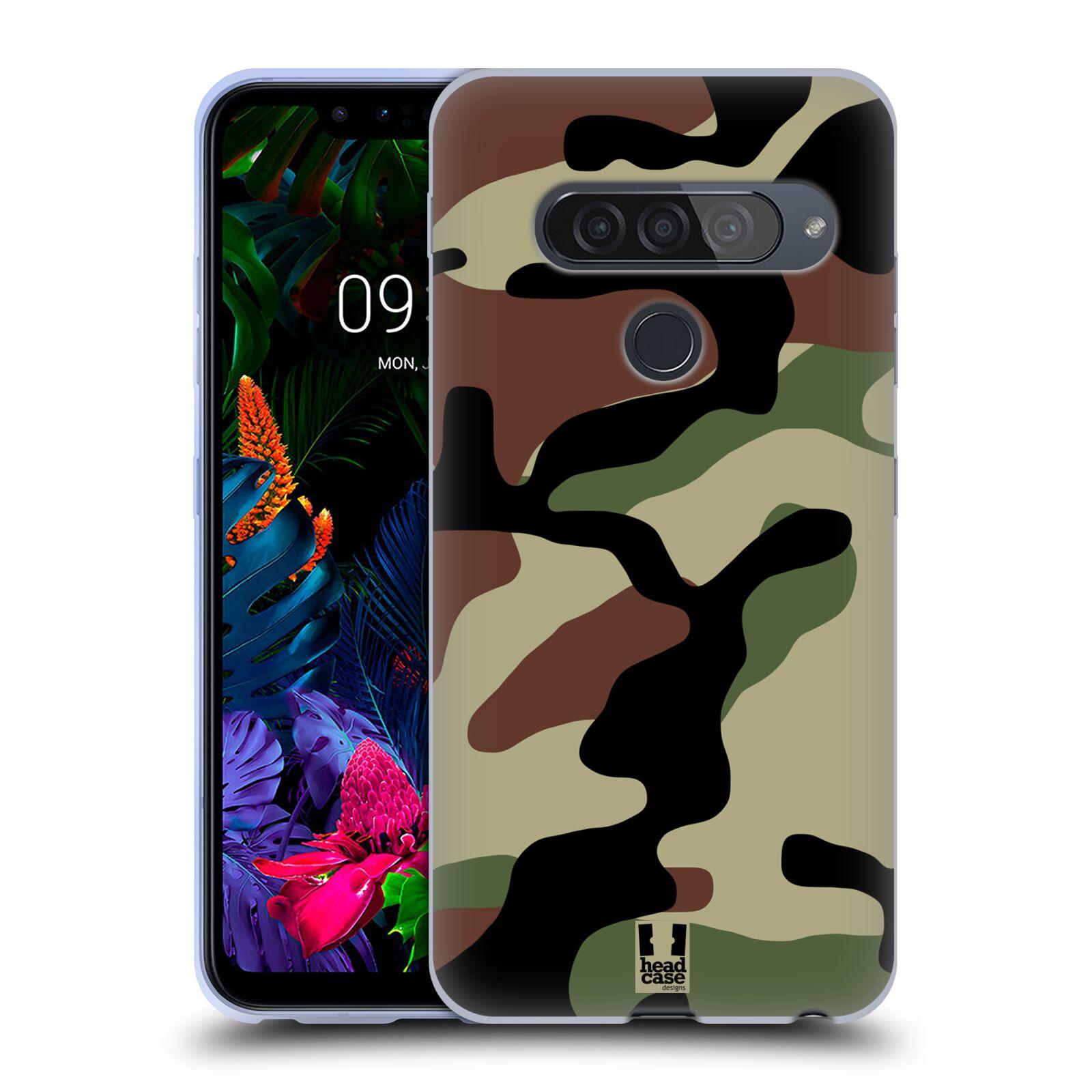 Silikonové pouzdro na mobil LG G8s ThinQ - Head Case - Maskáče