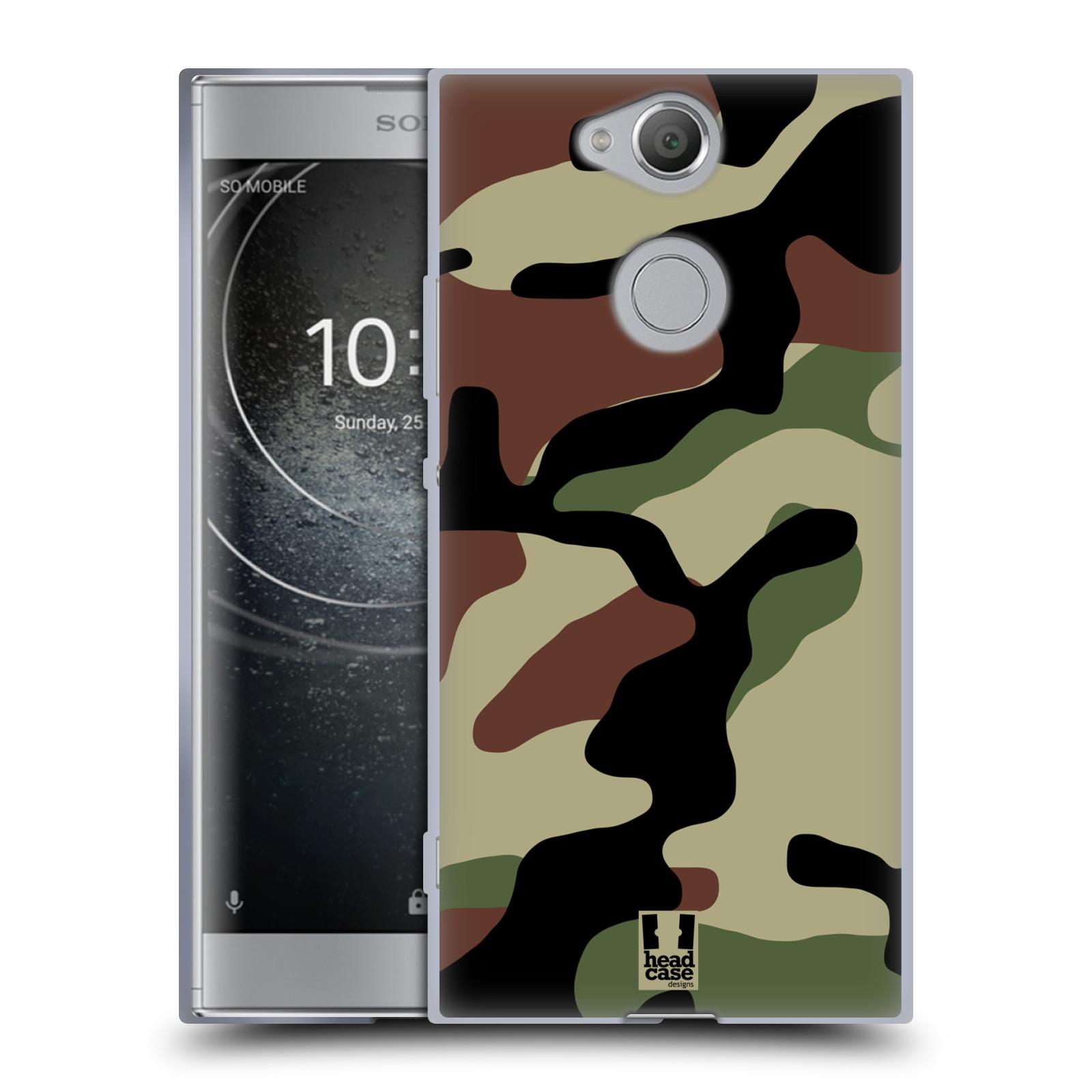 Silikonové pouzdro na mobil Sony Xperia XA2 - Head Case - Maskáče