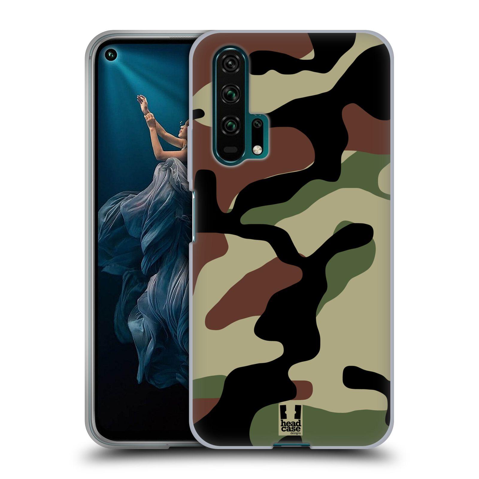 Silikonové pouzdro na mobil Honor 20 Pro - Head Case - Maskáče