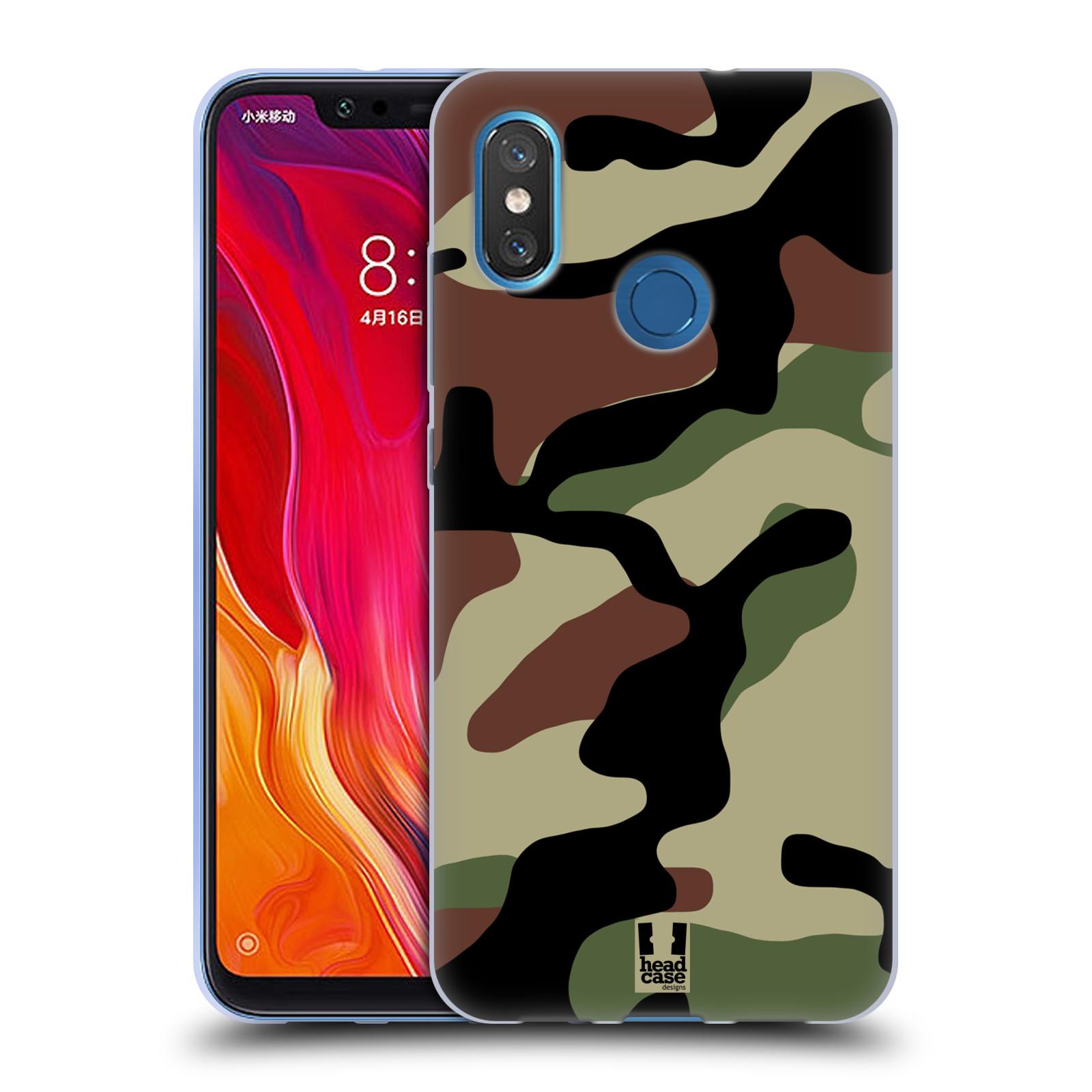 Silikonové pouzdro na mobil Xiaomi Mi8 - Head Case - Maskáče
