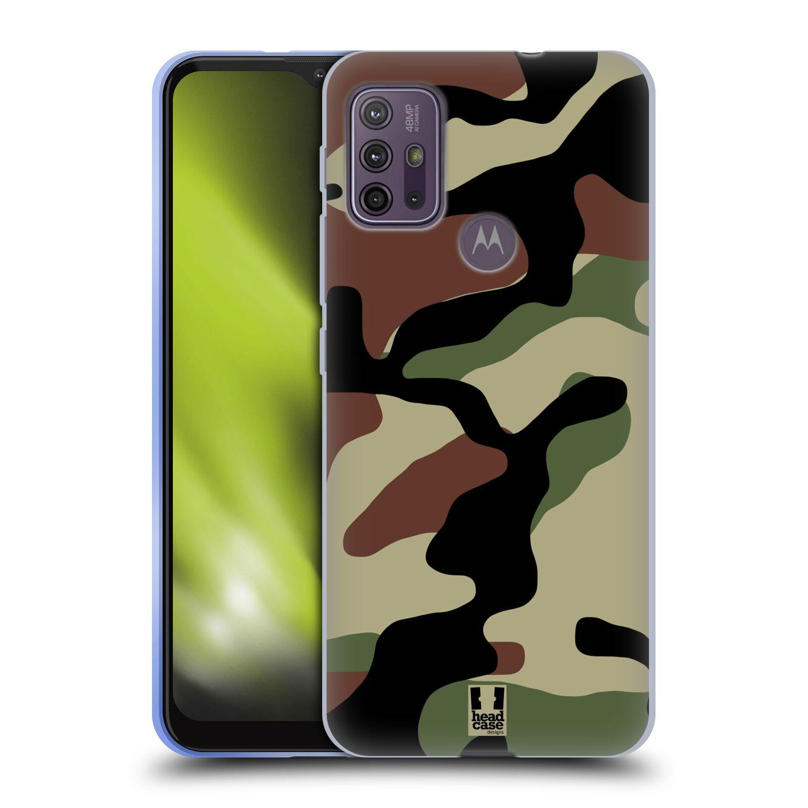 Silikonové pouzdro na mobil Motorola Moto G10 / G30 - Head Case - Maskáče