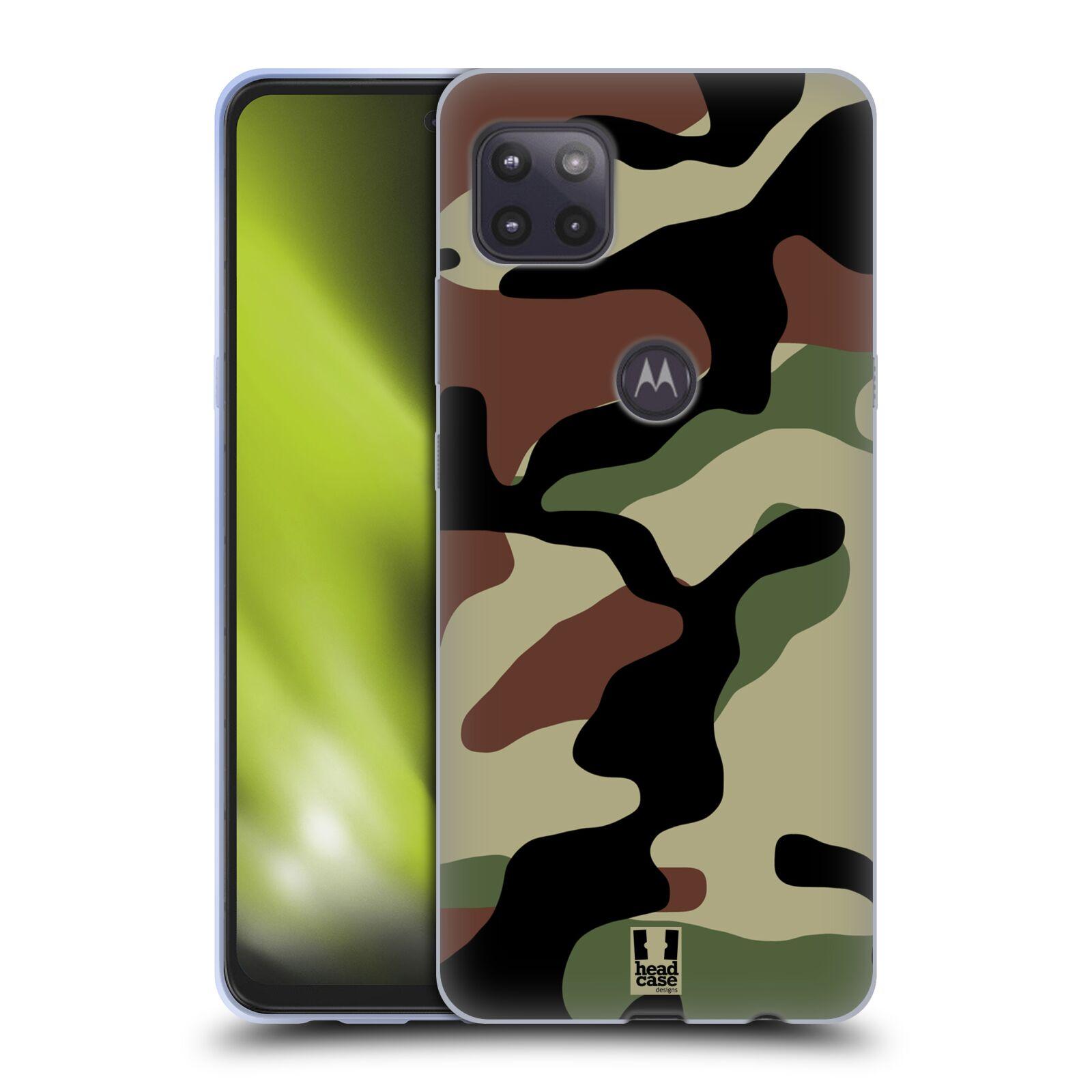 Silikonové pouzdro na mobil Motorola Moto G 5G - Head Case - Maskáče