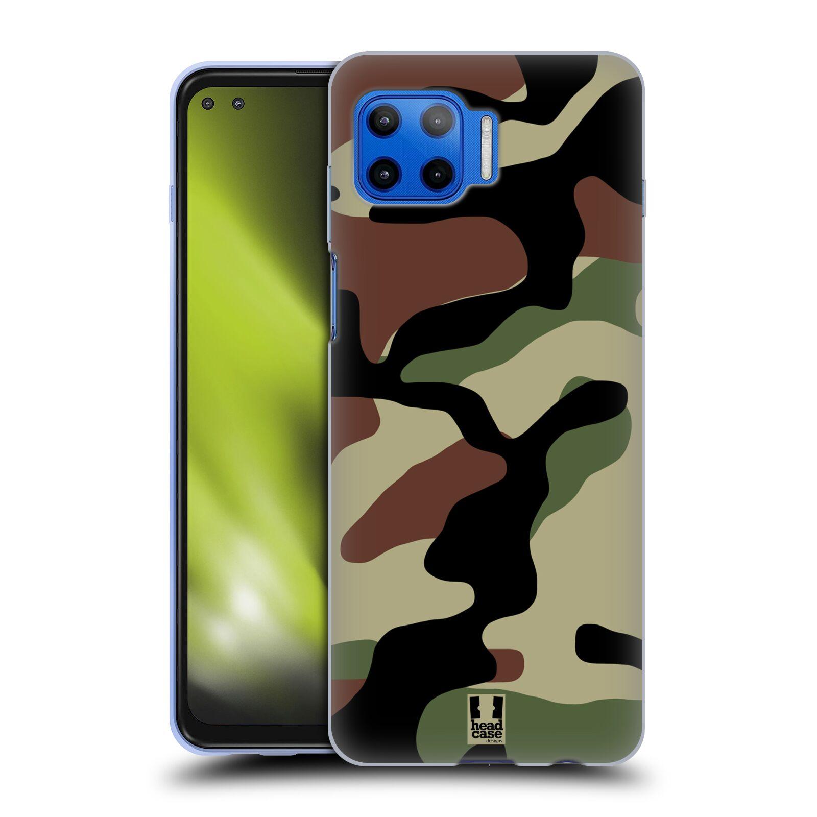 Silikonové pouzdro na mobil Motorola Moto G 5G Plus - Head Case - Maskáče