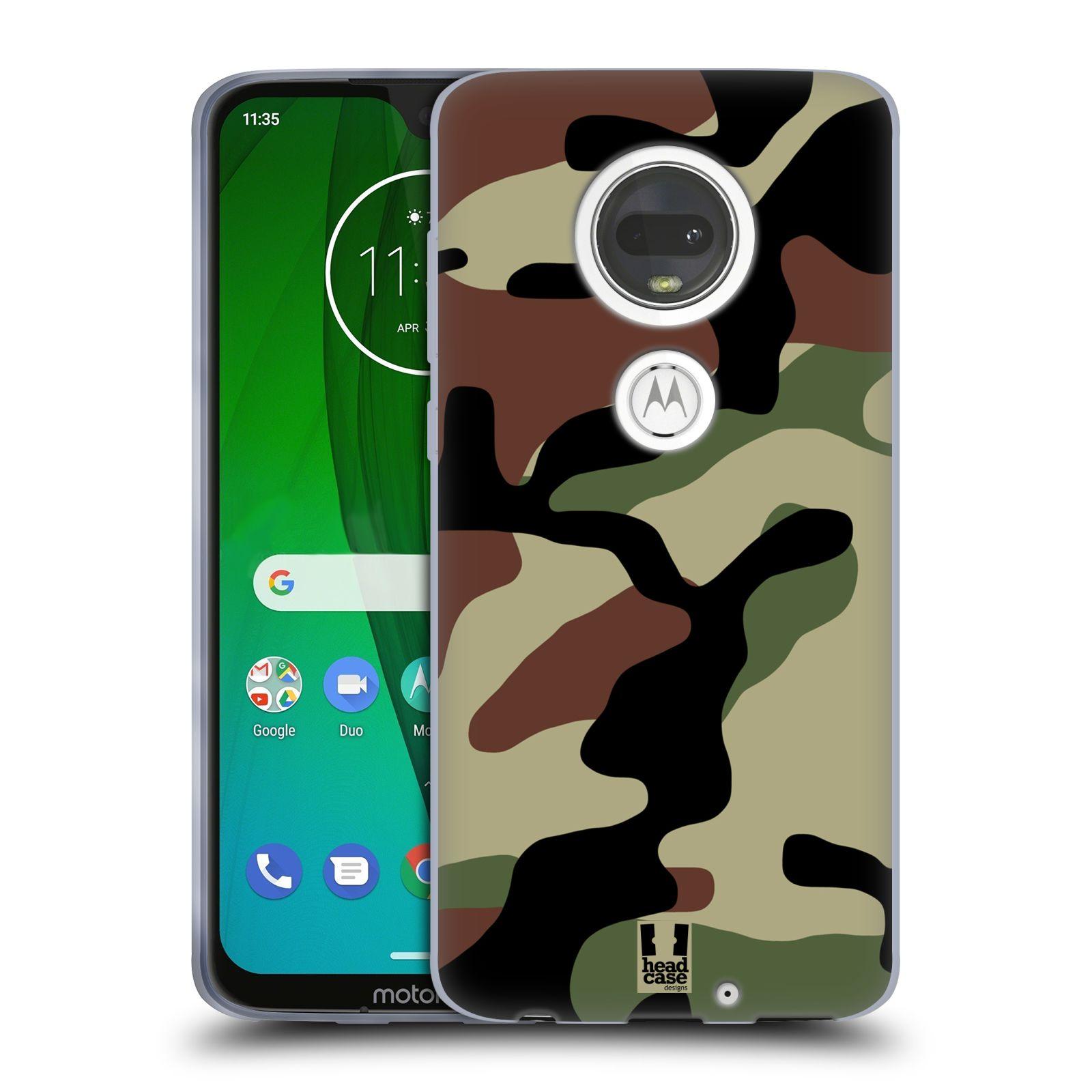 Silikonové pouzdro na mobil Motorola Moto G7 - Head Case - Maskáče