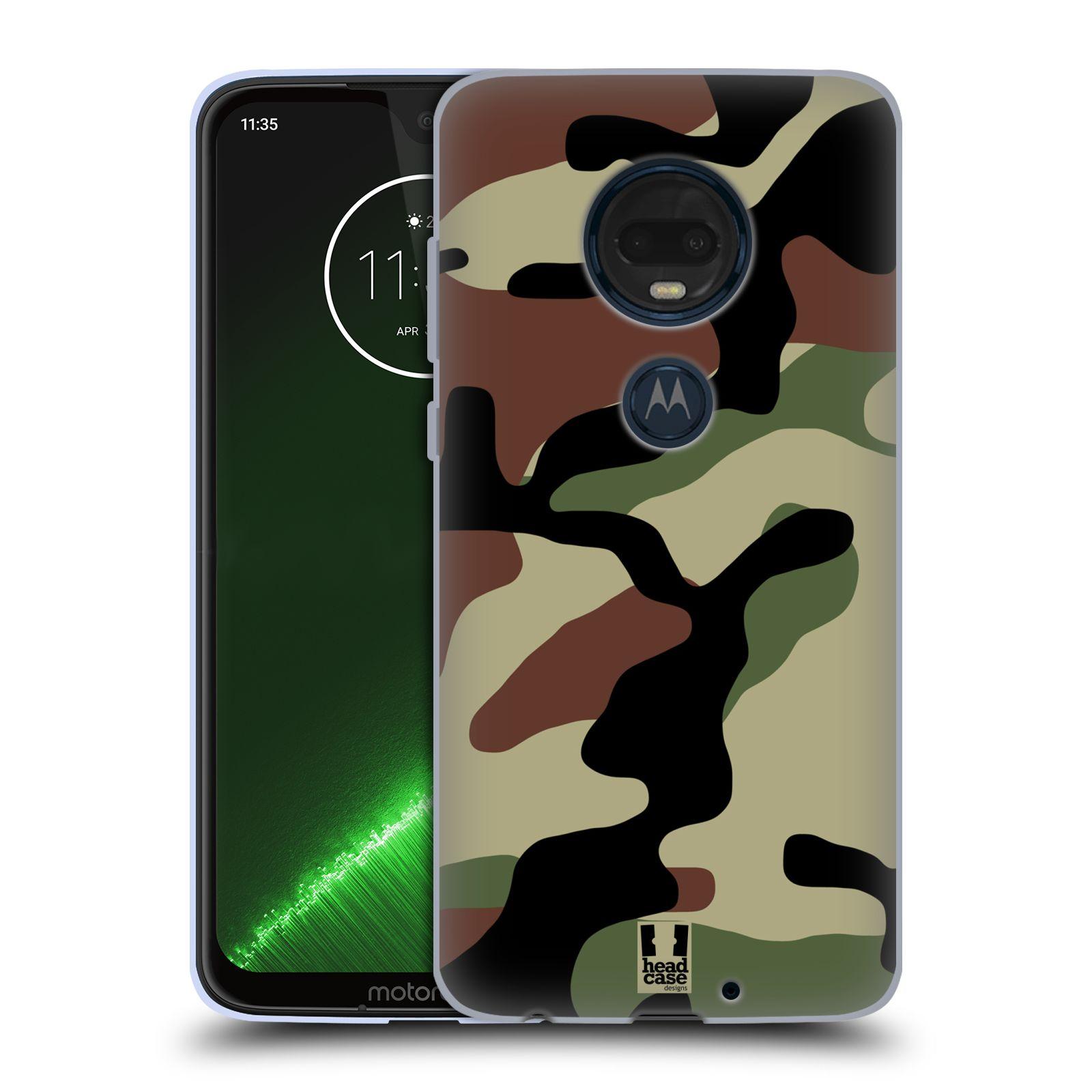 Silikonové pouzdro na mobil Motorola Moto G7 Plus - Head Case - Maskáče