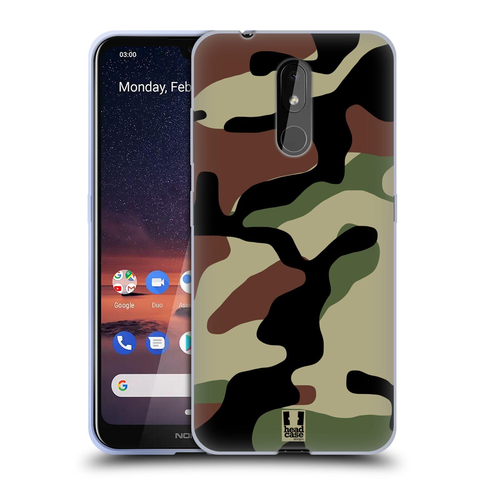 Silikonové pouzdro na mobil Nokia 3.2 - Head Case - Maskáče