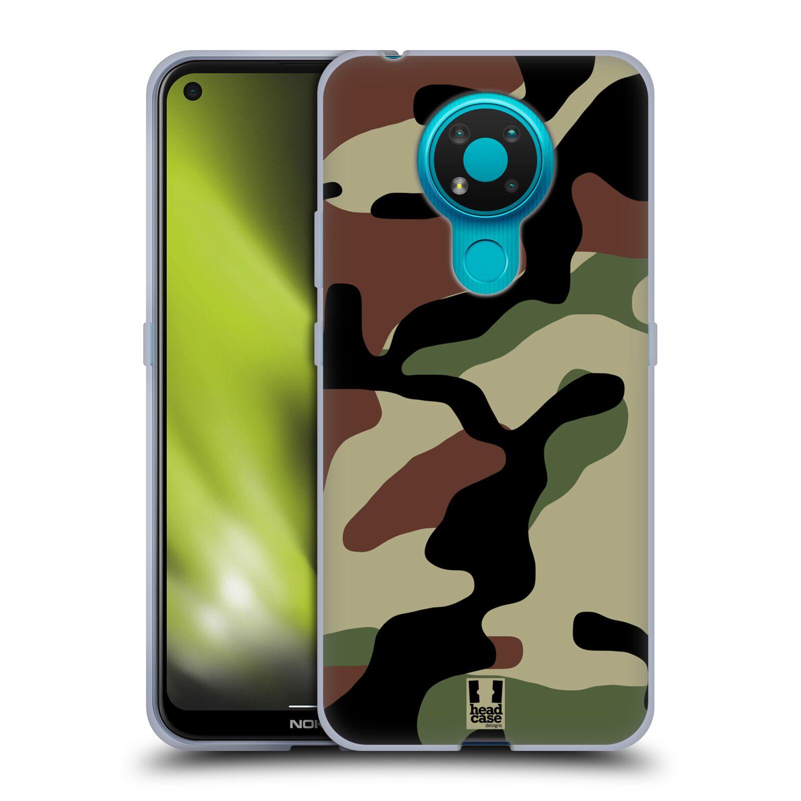 Silikonové pouzdro na mobil Nokia 3.4 - Head Case - Maskáče