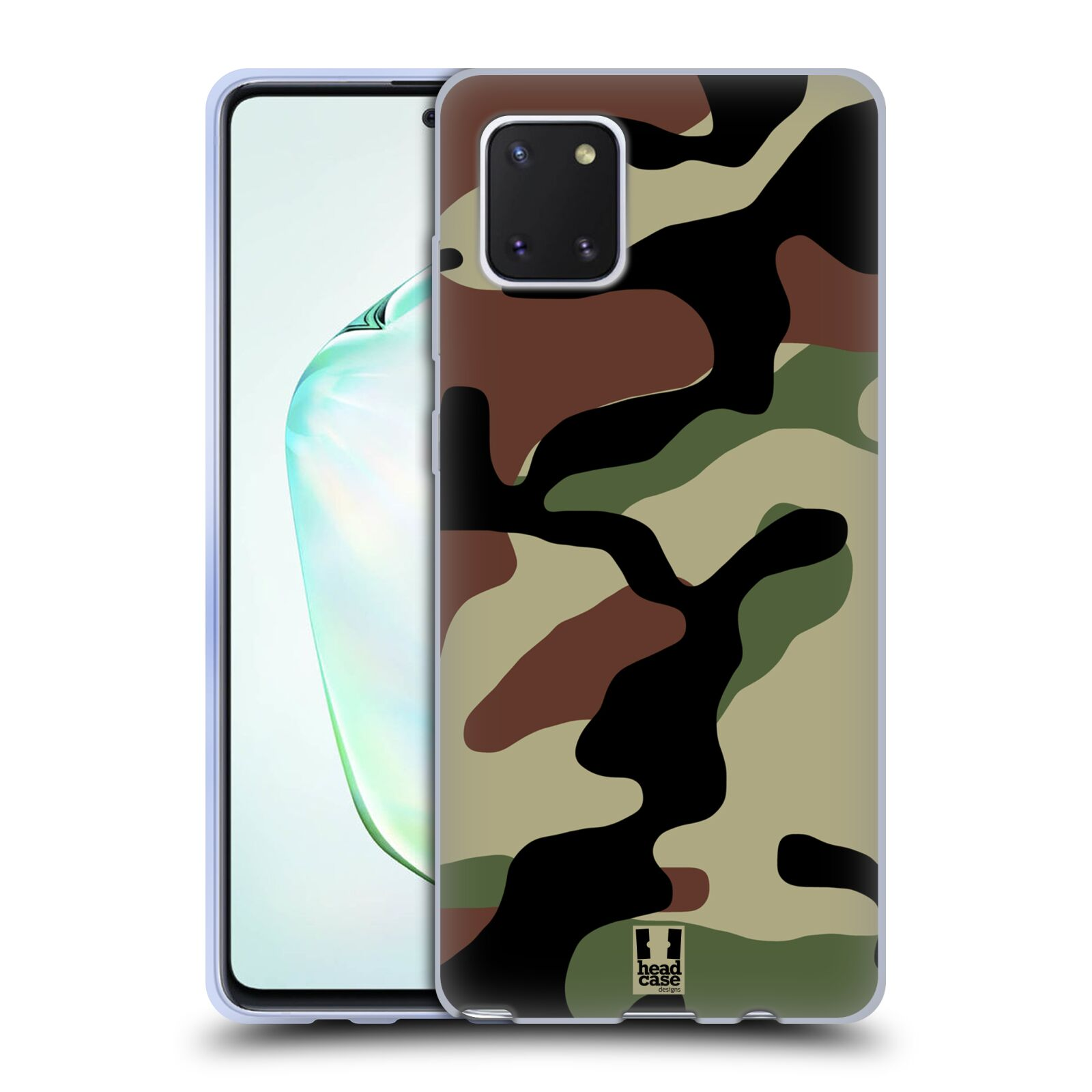 Silikonové pouzdro na mobil Samsung Galaxy Note 10 Lite - Head Case - Maskáče